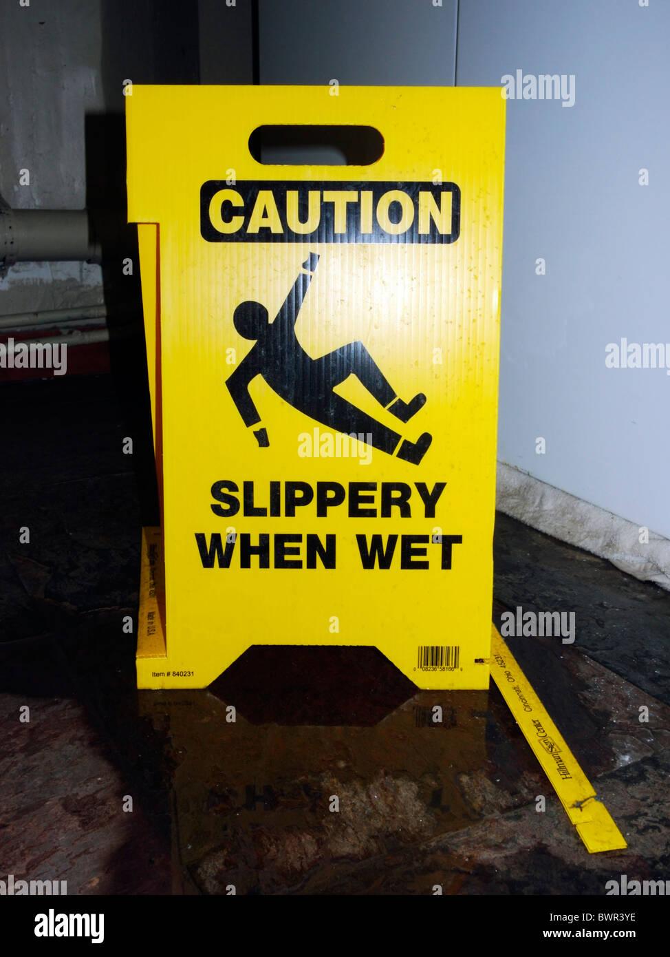 Slippery when wet Imagen De Stock