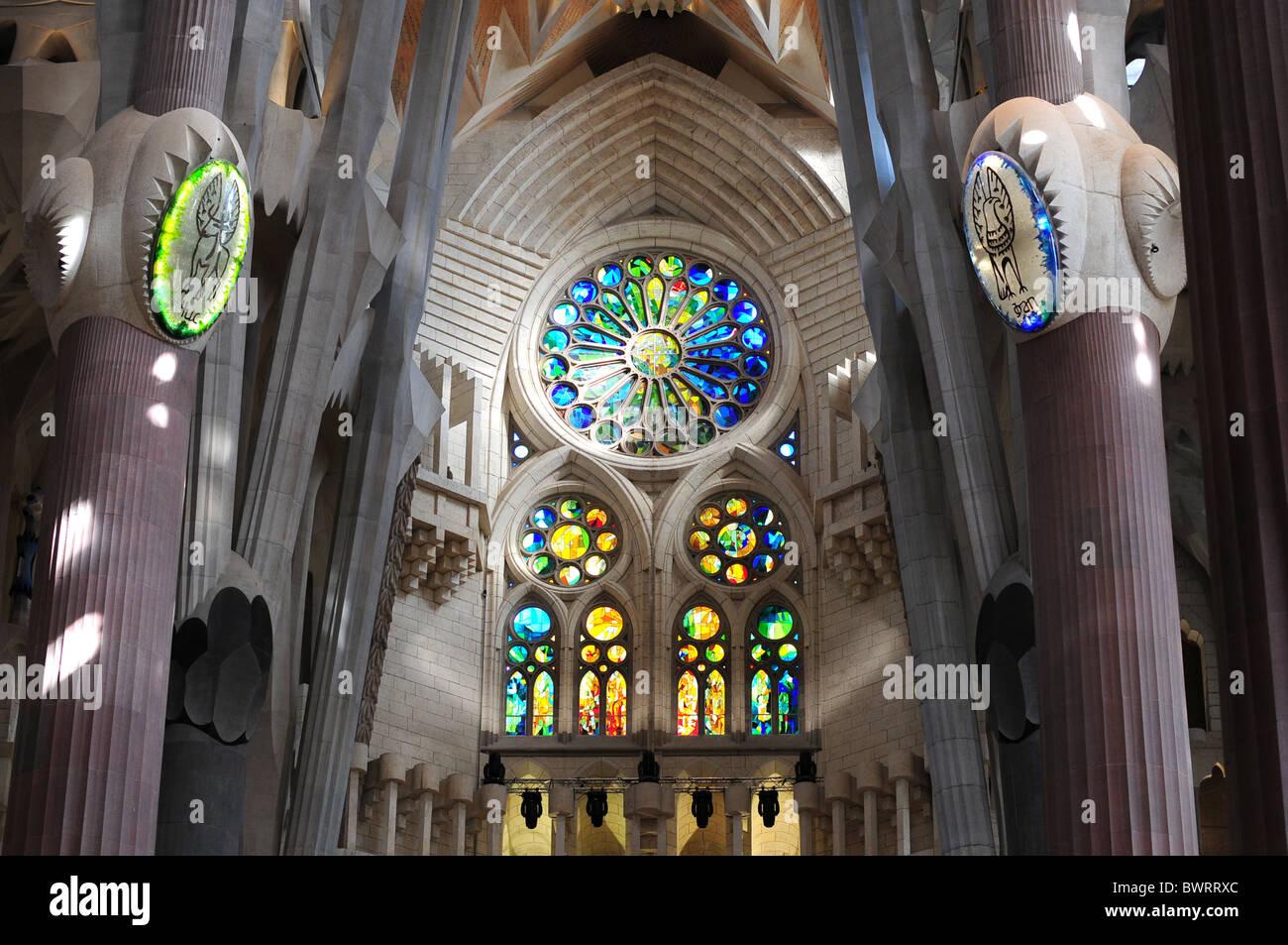 La Sagrada Familia Antoni Gaudí Barcelona España Cataluña Imagen De Stock