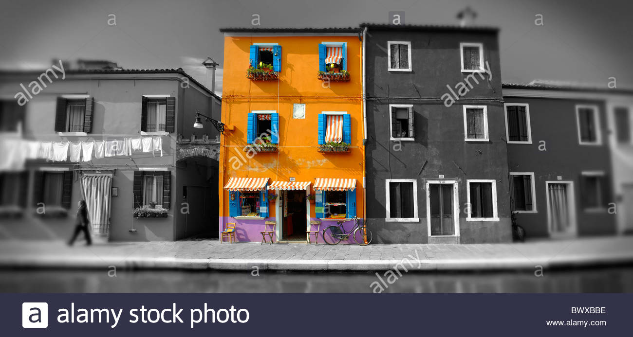 Coloridas casas de Burano, Venecia Imagen De Stock