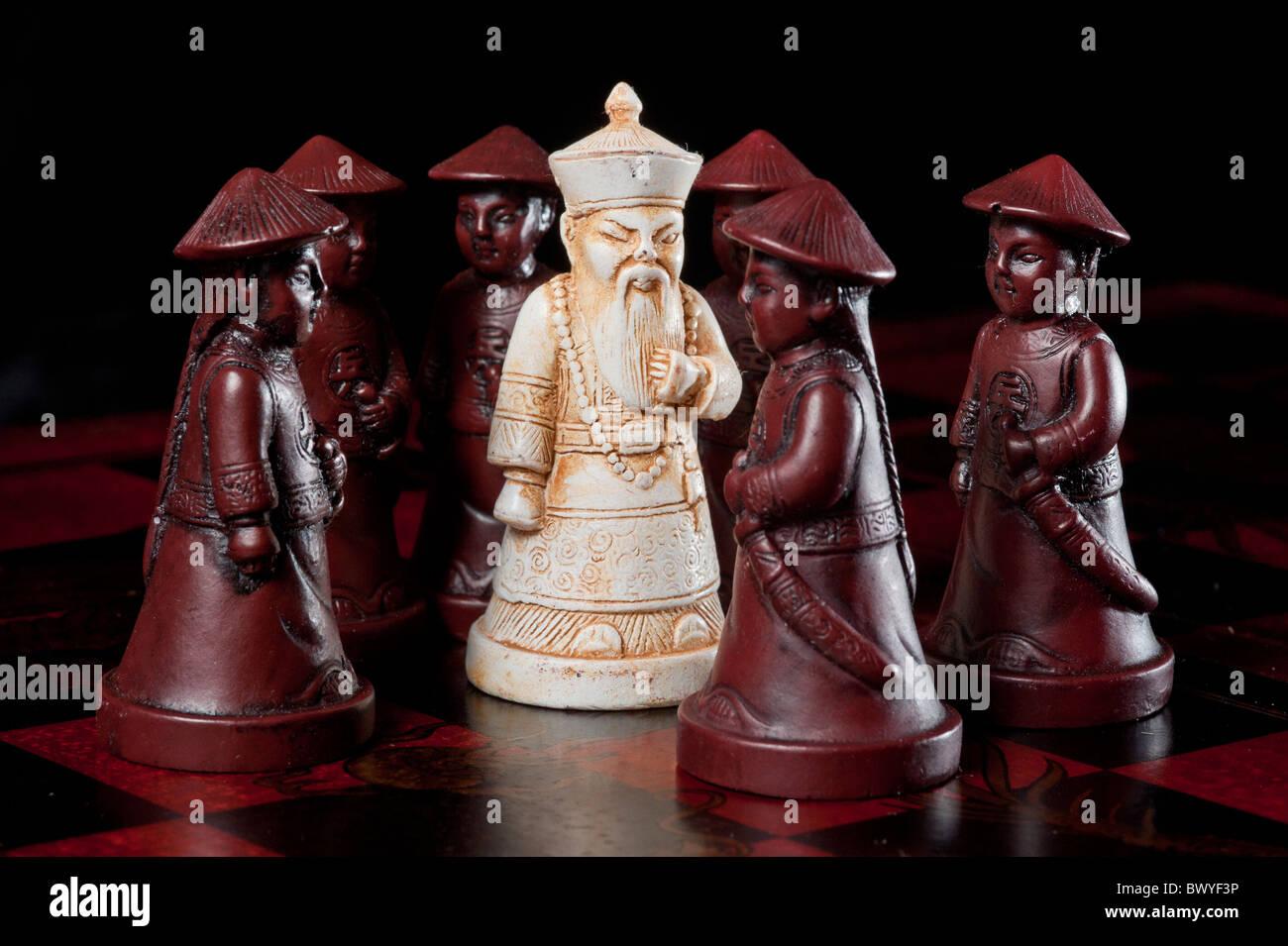 Piezas de ajedrez Imagen De Stock