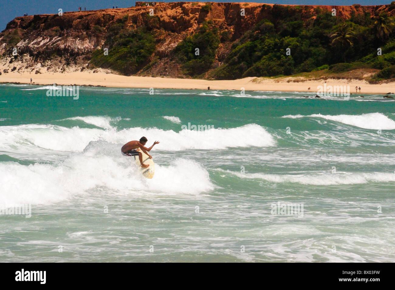 Navegante de Praia do Amor, Playa de Pipa, Brasil. Imagen De Stock