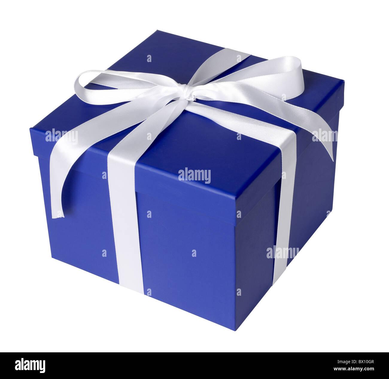 caja de regalo azul Imagen De Stock