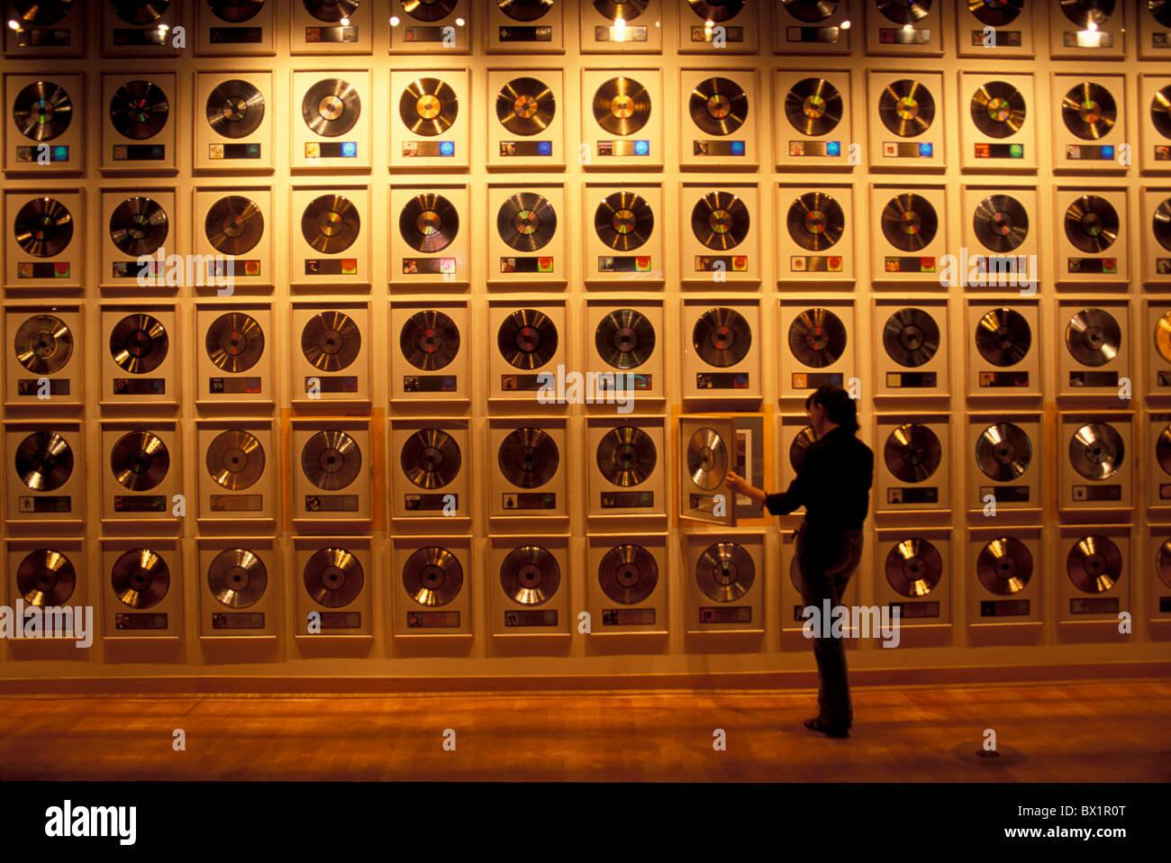 Resonante de la Fama de la música country music awards de oro Nashville Tennessee usa registros de Estados Imagen De Stock