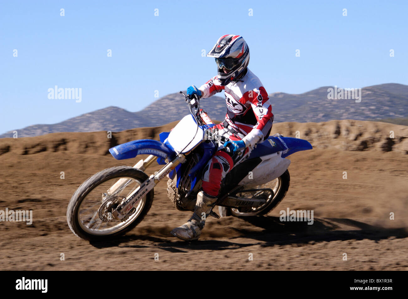 Acción del deporte del motor de moto cross moto motocicleta corriendo sport Imagen De Stock