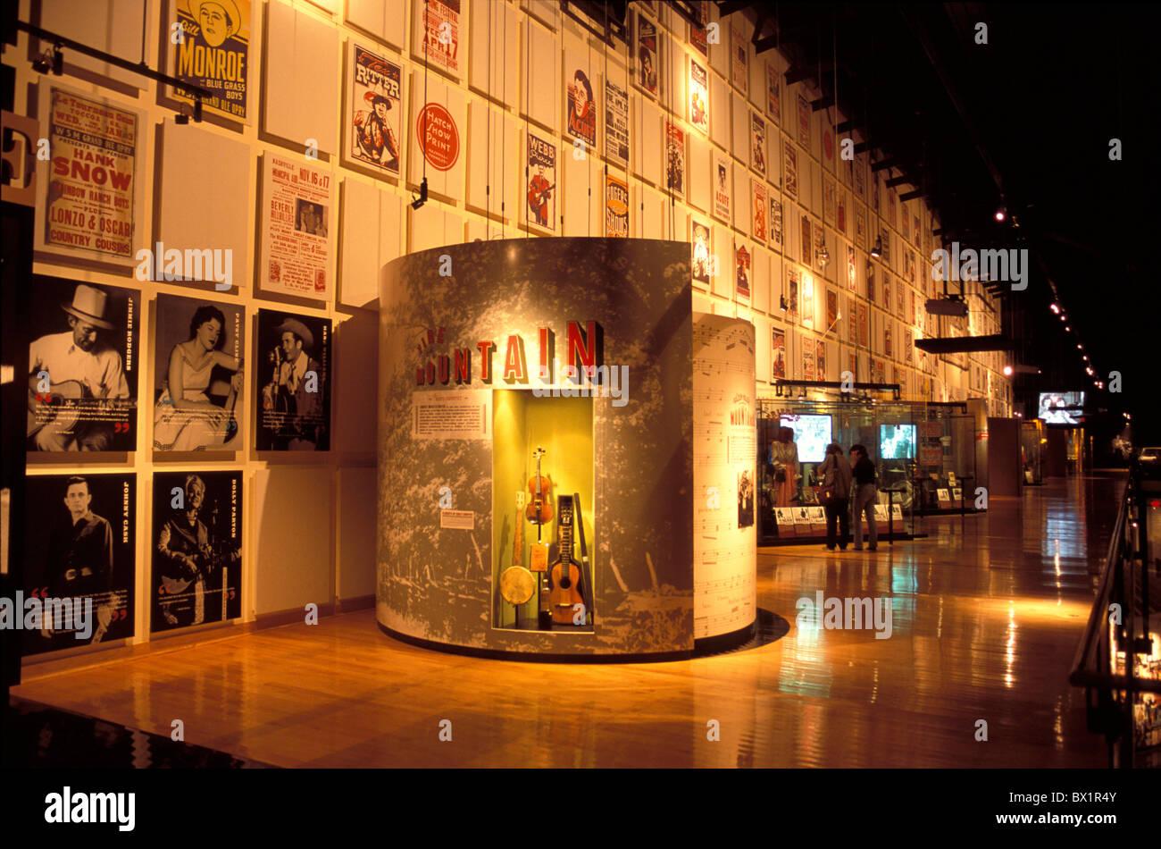 Resonante de la Fama de la música country exposición museo música de Nashville, Tennessee, ESTADOS Imagen De Stock