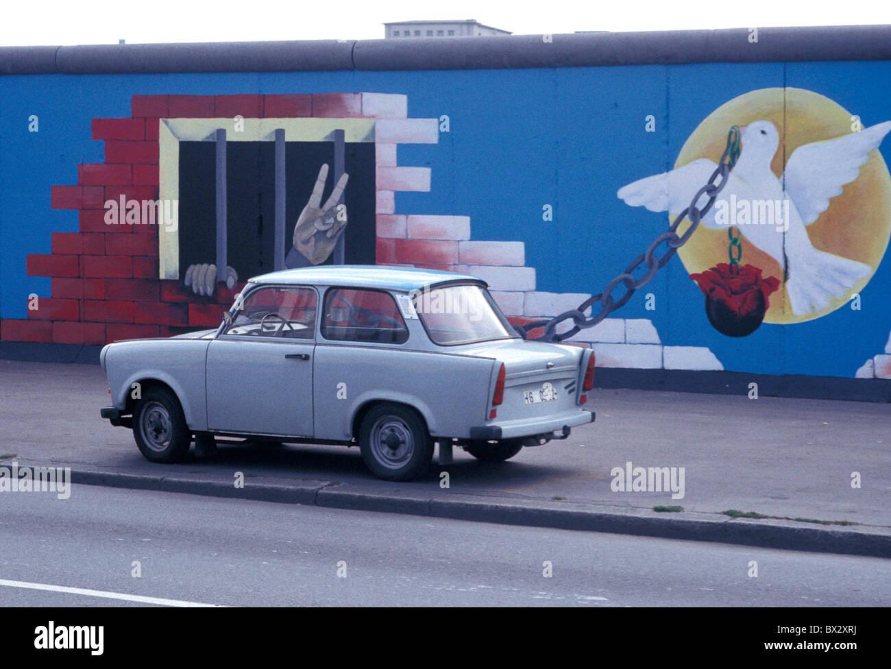 Muro de Berlín del siglo XX Ciudades Ciudad Guerra Fría coloridos colores Color Color Color Color Colorf Imagen De Stock