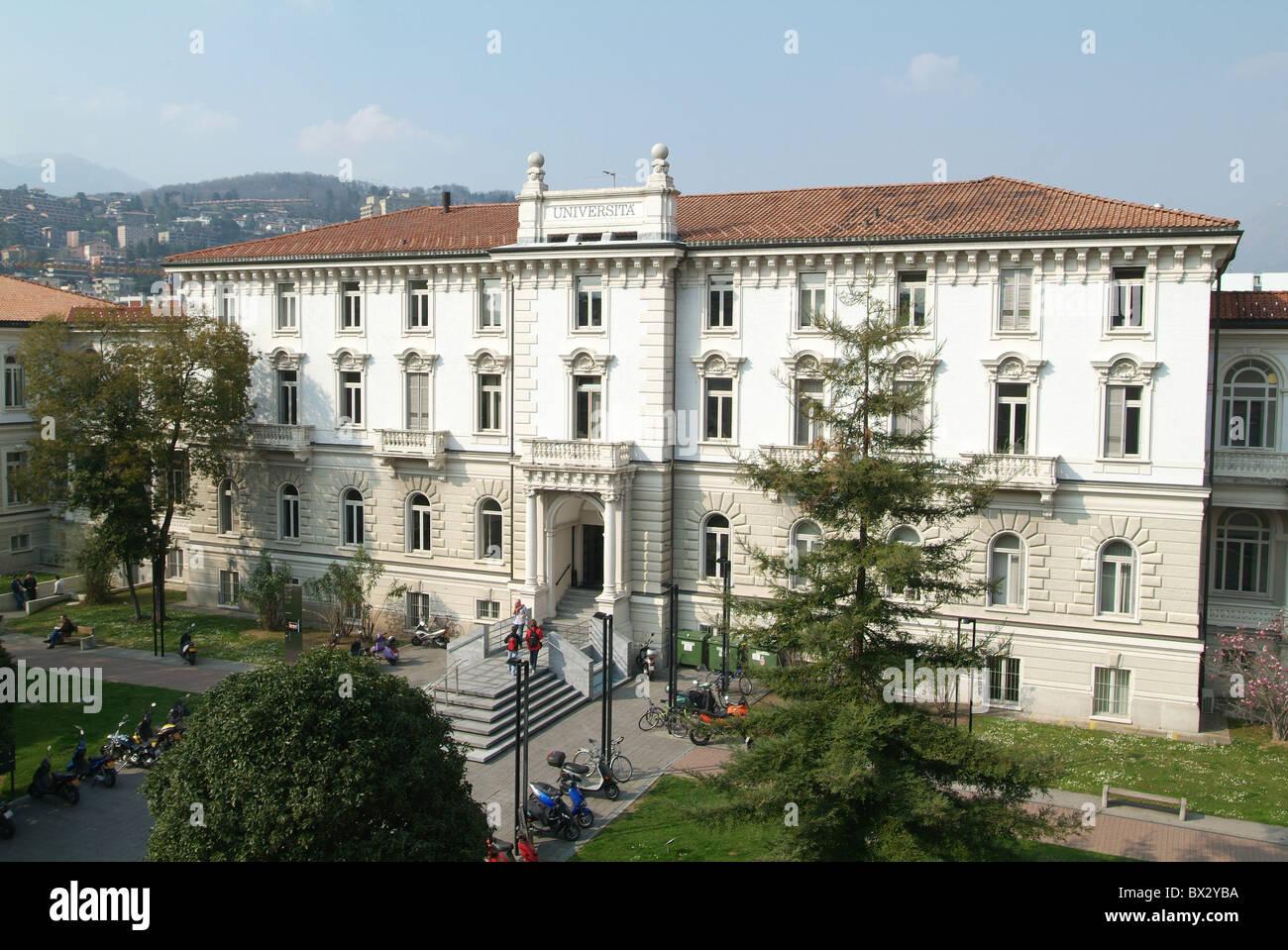 La Università della Svizzera Italiana universidad universidad la construcción educación formación Imagen De Stock