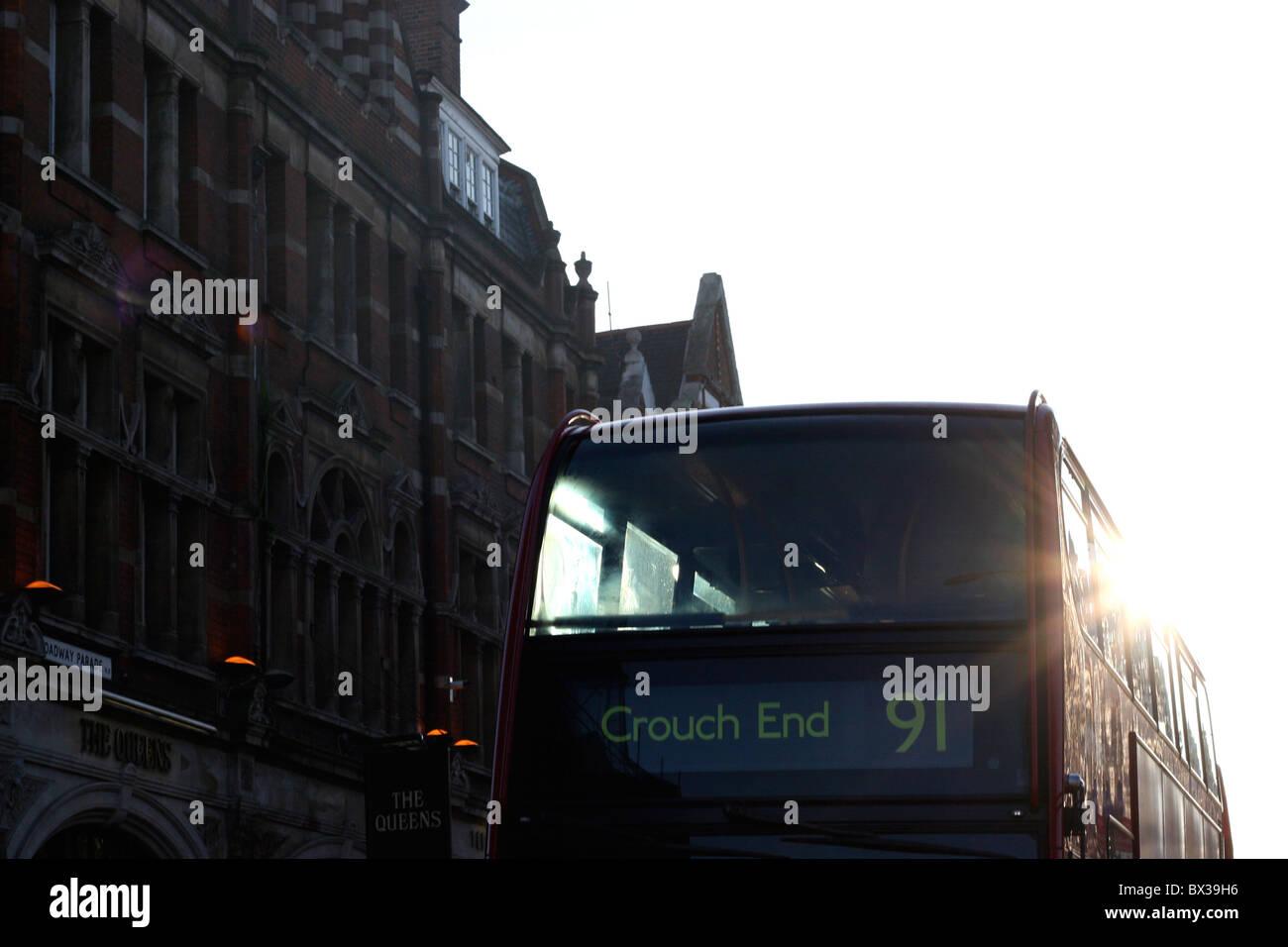 Crouch End Bus nº91 Imagen De Stock