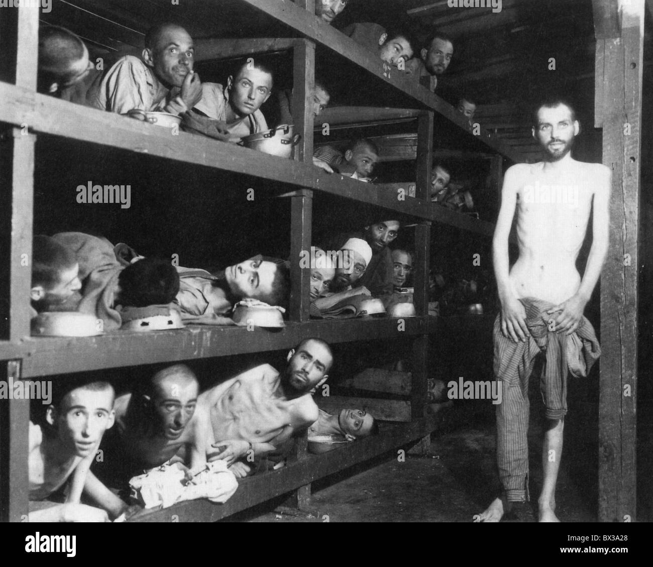 OHRDRUF campo de concentración cerca de Gotha, Alemania, fotografiado por fuerzas de EE.UU. después de la liberación Foto de stock