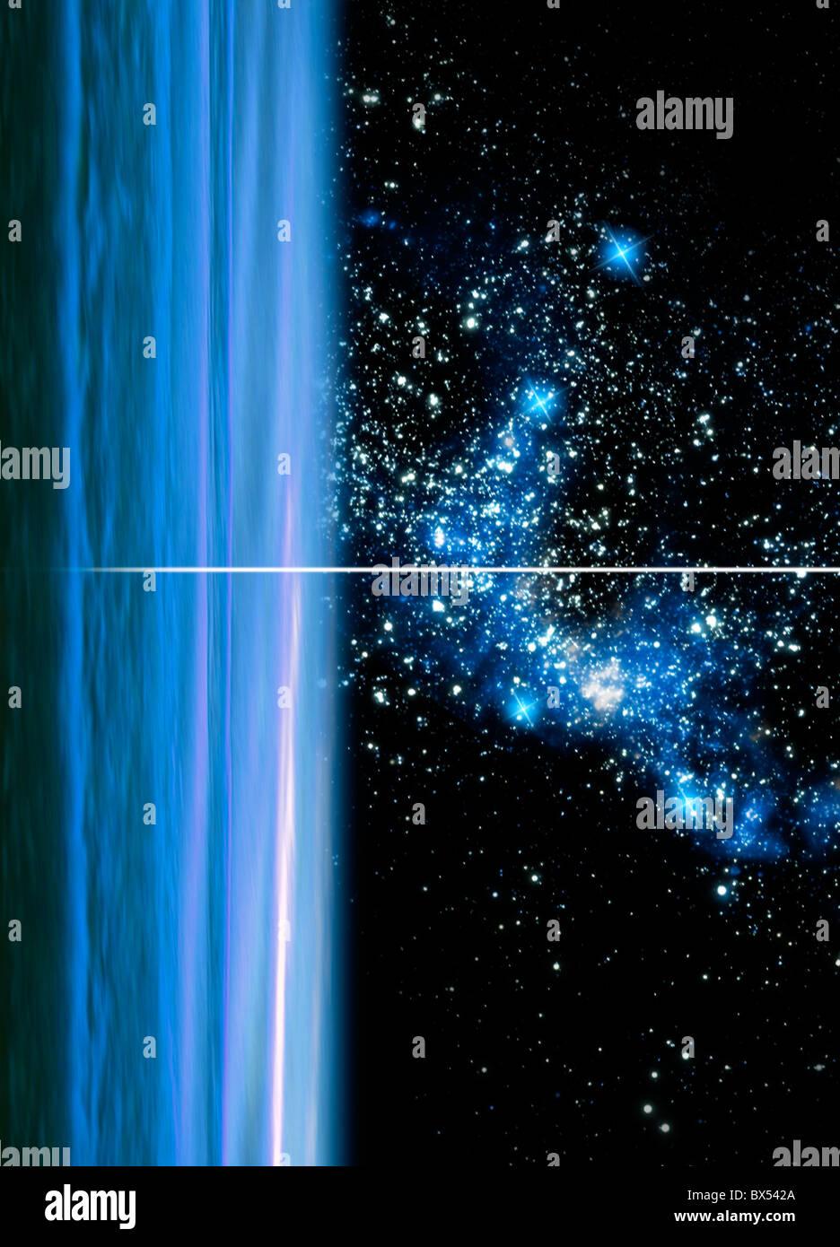 Urano y cúmulo de estrellas, ilustraciones Imagen De Stock