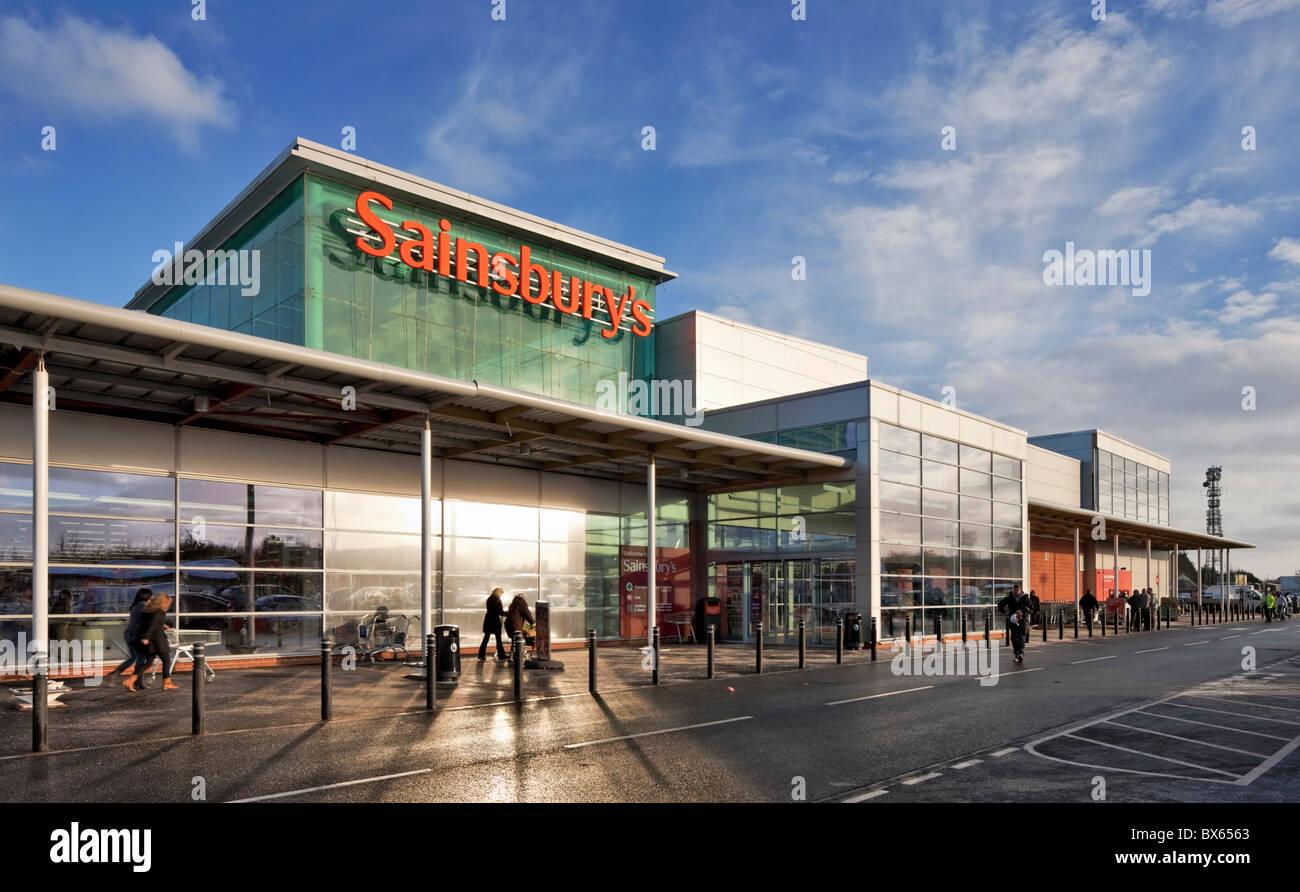 Sainsburys en Norwich. Imagen De Stock