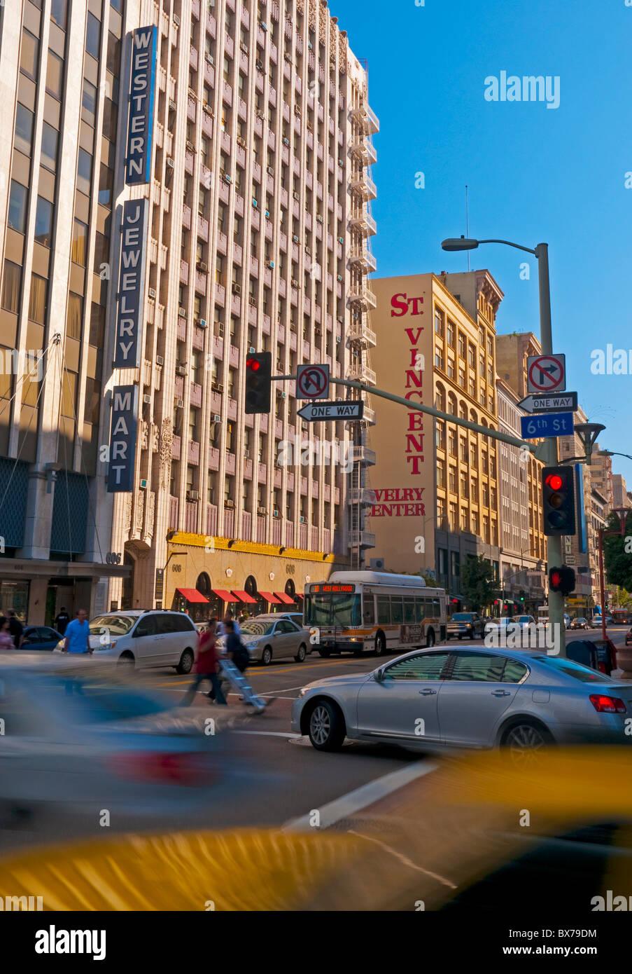 En el centro de la ciudad, barrio de las Joyerías, Los Angeles, California, Estados Unidos de América, Imagen De Stock