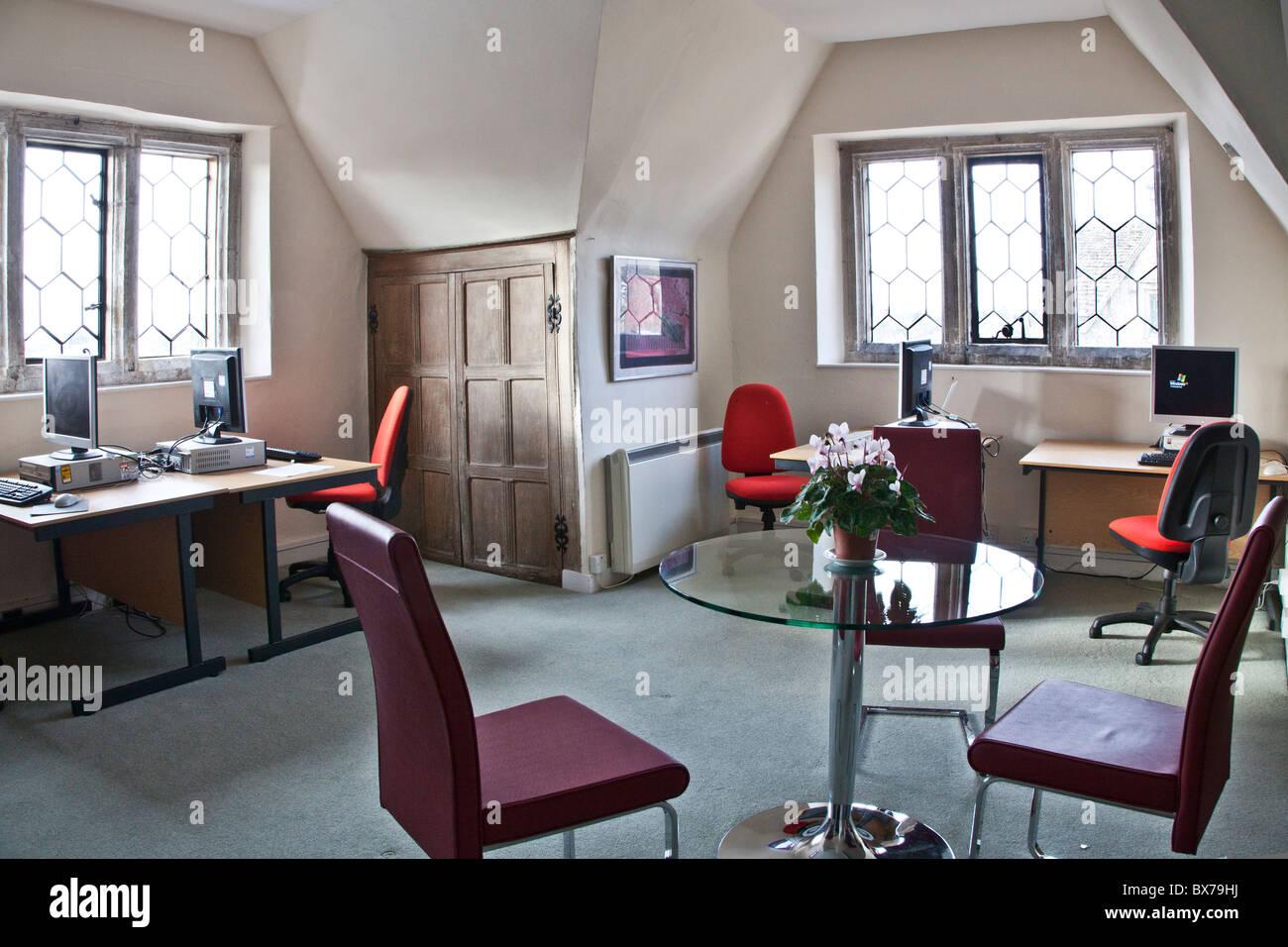 Estudio de posgrado Corsham Court en Wiltshire home a Bath Escuela de Arte y Diseño (Academia de Arte) de la Imagen De Stock