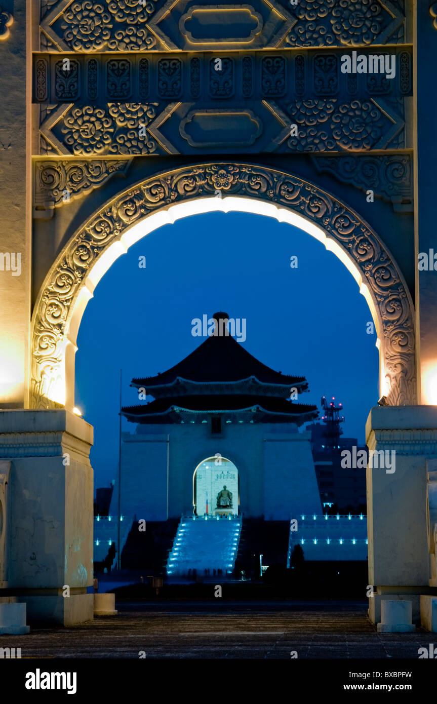 Asia, Taiwán, Taipei, Chiang Kai Shek Memorial Hall Imagen De Stock
