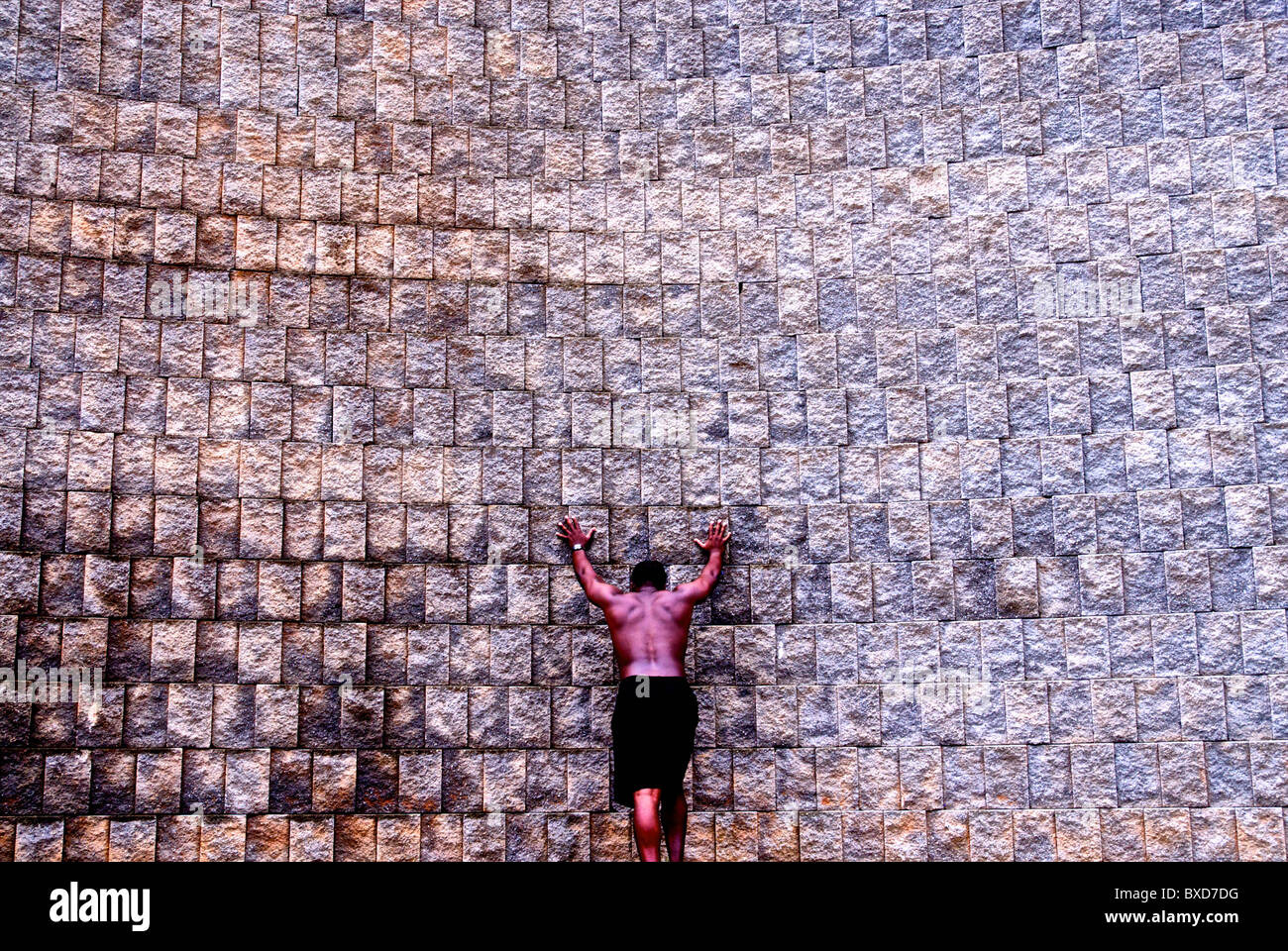 Atleta afroamericano Foto de stock
