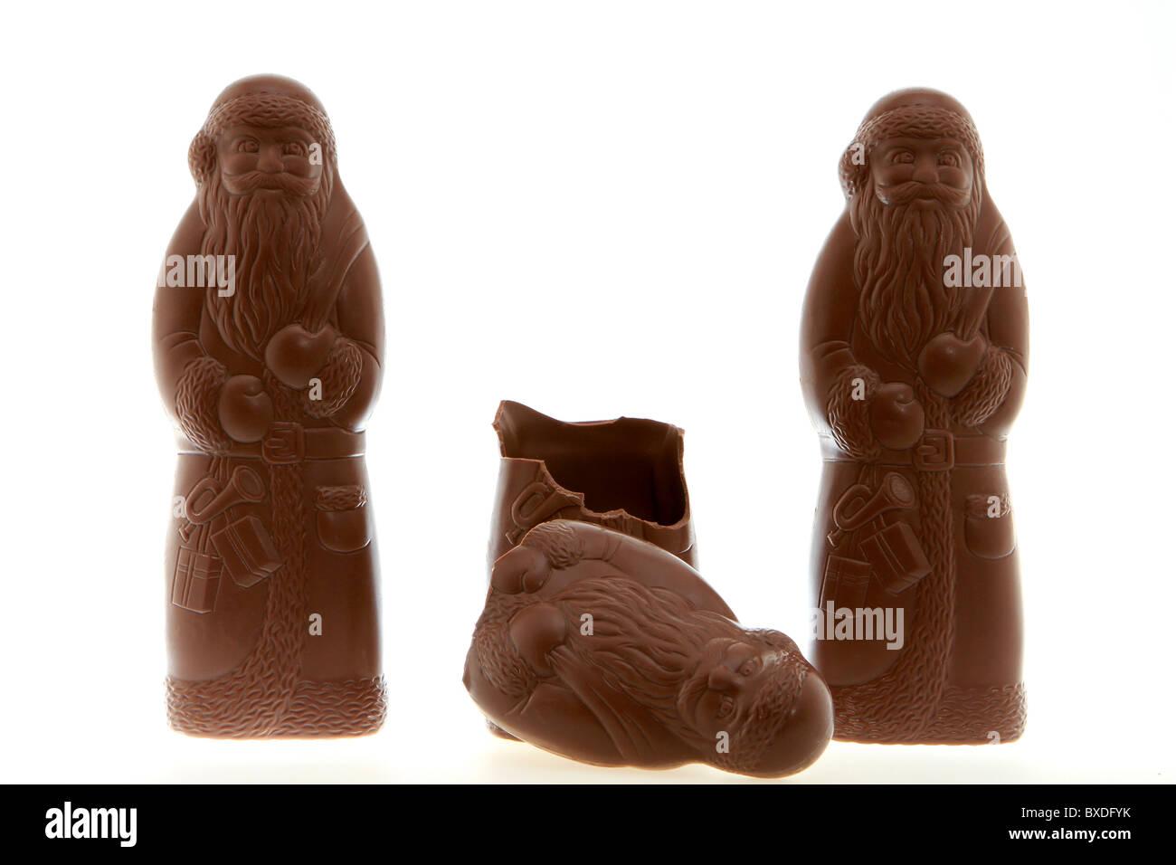 Santa Claus chocolate Foto de stock