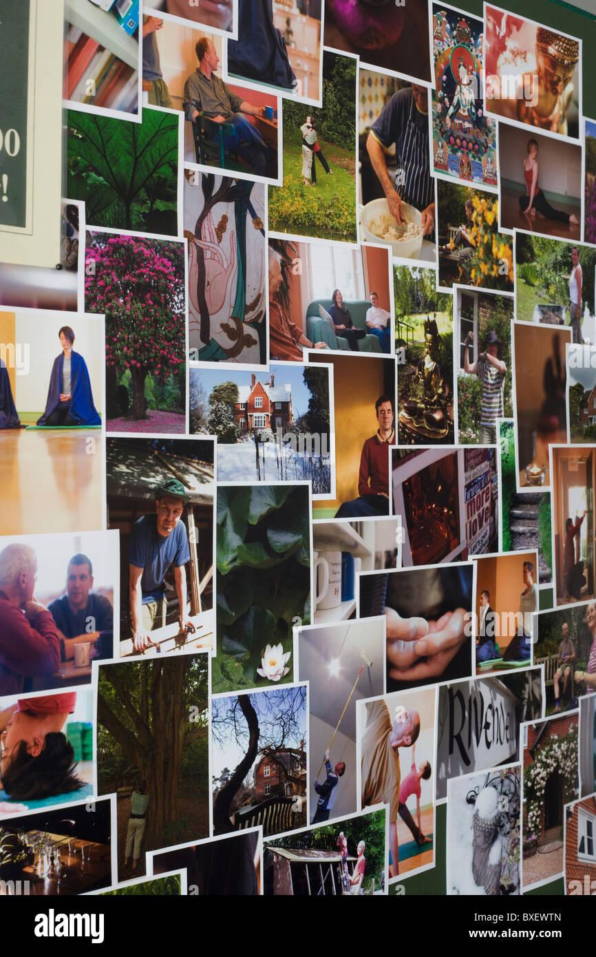Últimos visitantes Budista en el Centro de Retiro Budista Rivendell, East Sussex, Inglaterra. Imagen De Stock