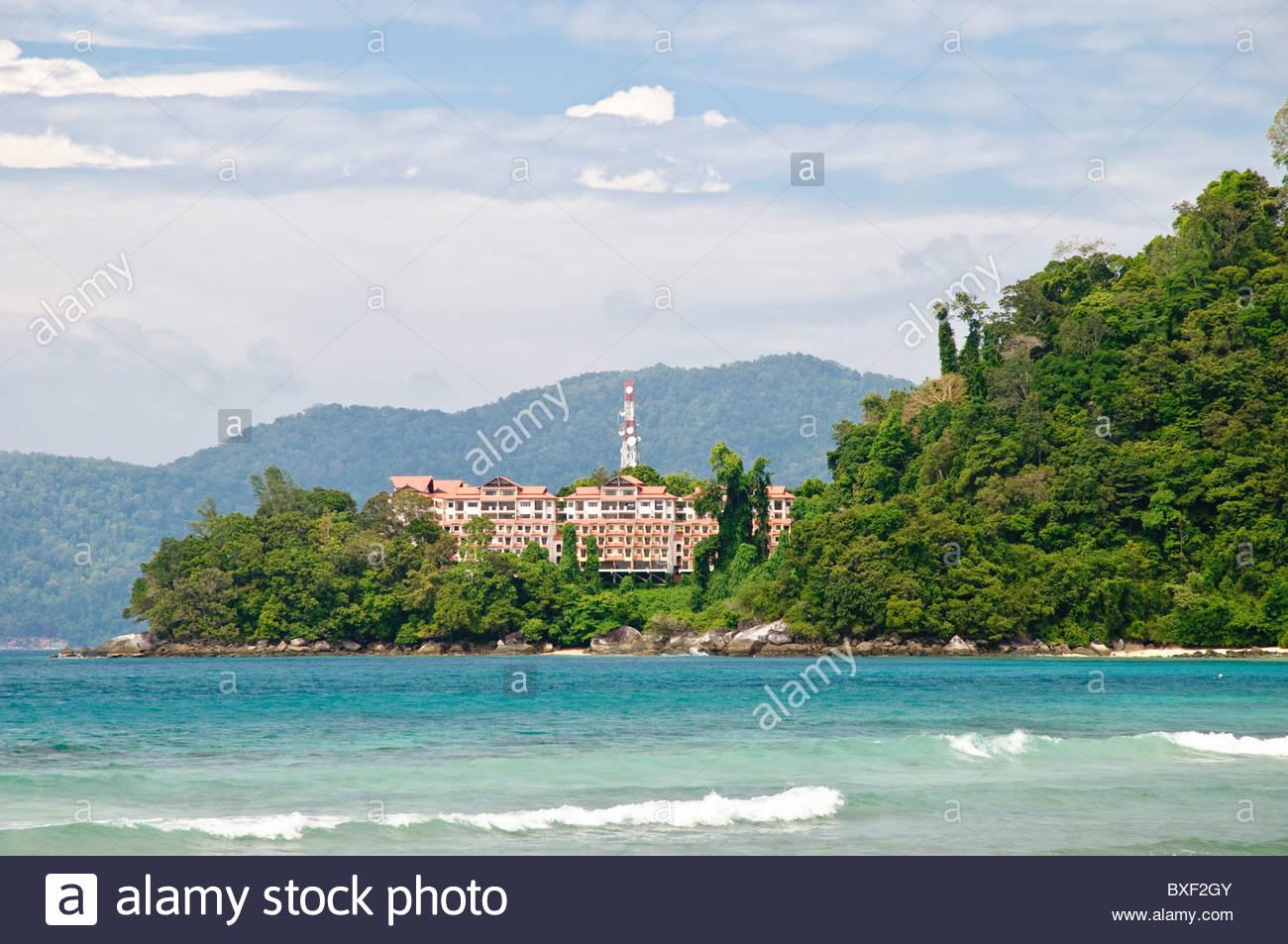 El Berjaya Tioman Island Resort, isla de Pulau Tioman, Malasia, Sudeste Asiático, Asia Foto de stock