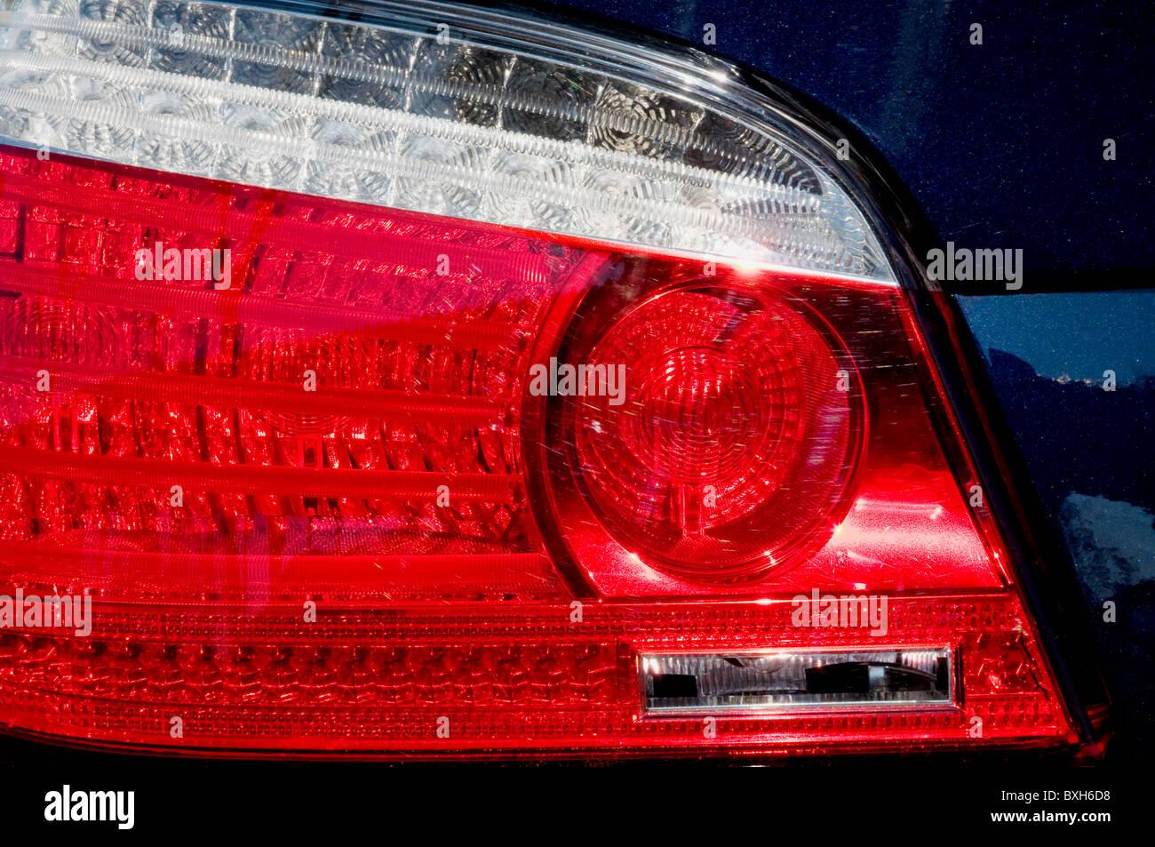 Luz trasera del coche. Imagen De Stock