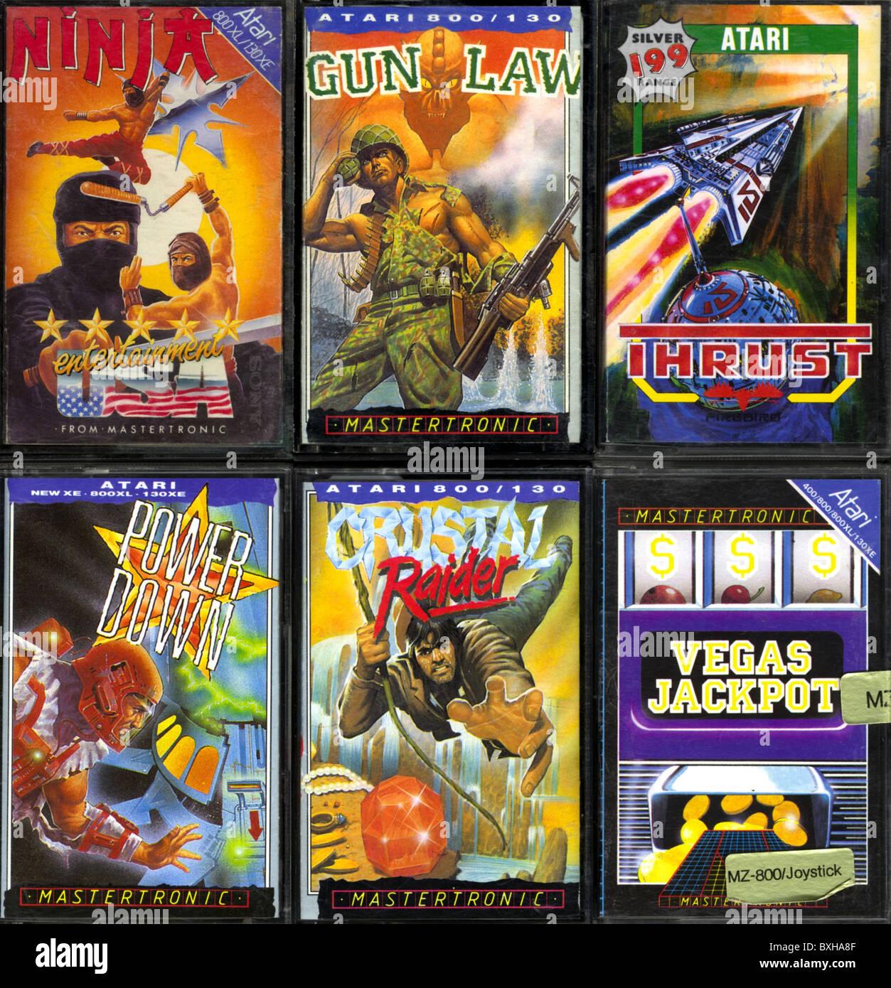 Juegos Juegos De Ordenador Juegos Para Atari Homecomputer Temprana