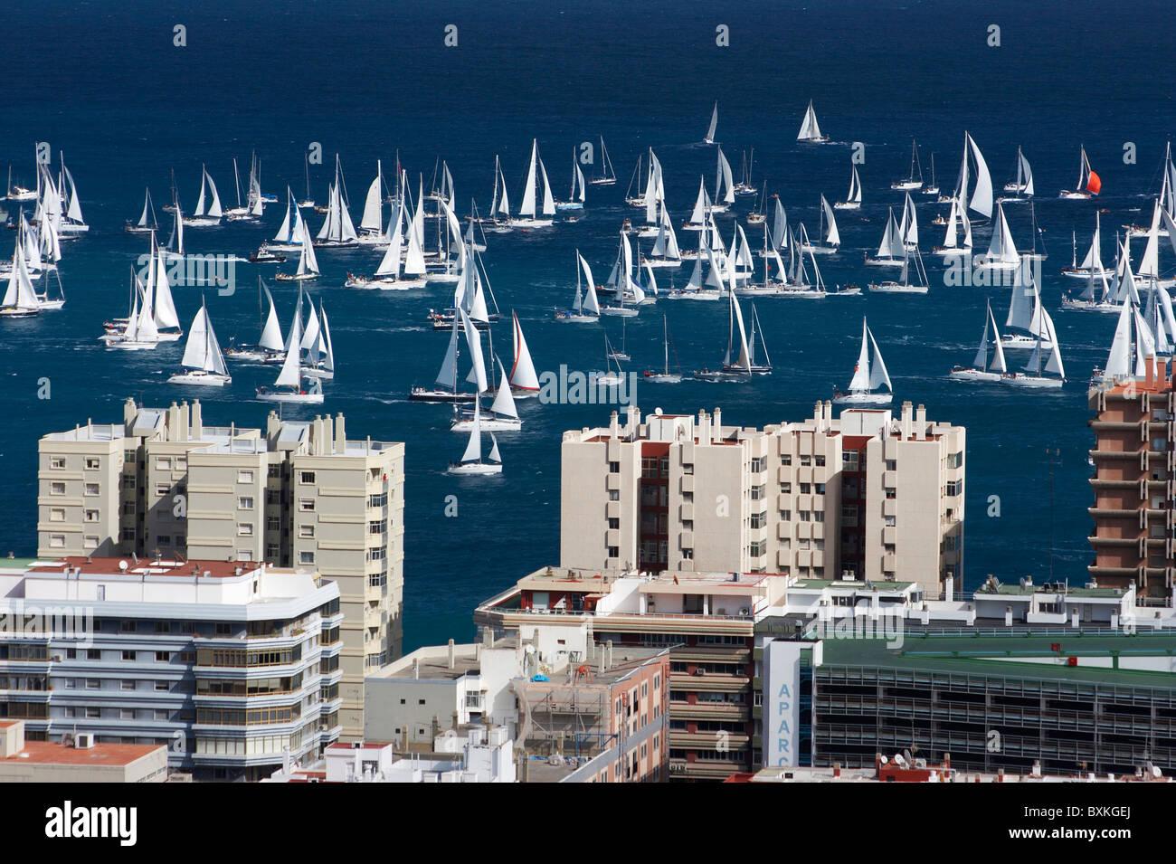 2007 Arc Transat desde Las Palmas a Santa Lucía en el Caribe Foto de stock