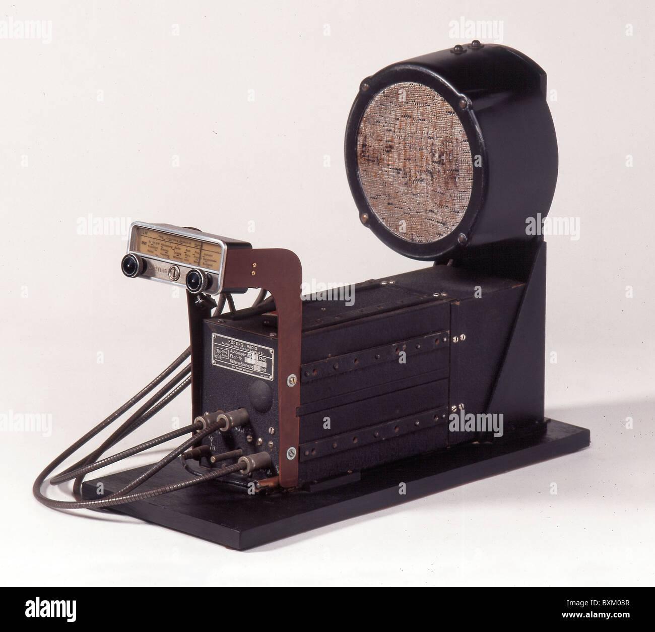 Broadcast, radio, radio Koerting como 7340, Alemania, 1939, 1930s, 30s, siglo xx, histórico, histórico, Imagen De Stock