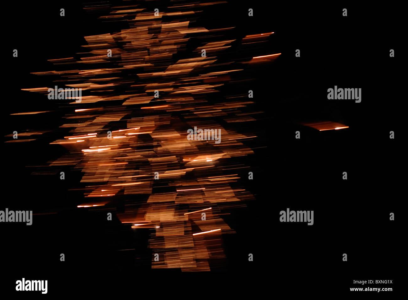 Resumen patrones de luces. Imagen De Stock