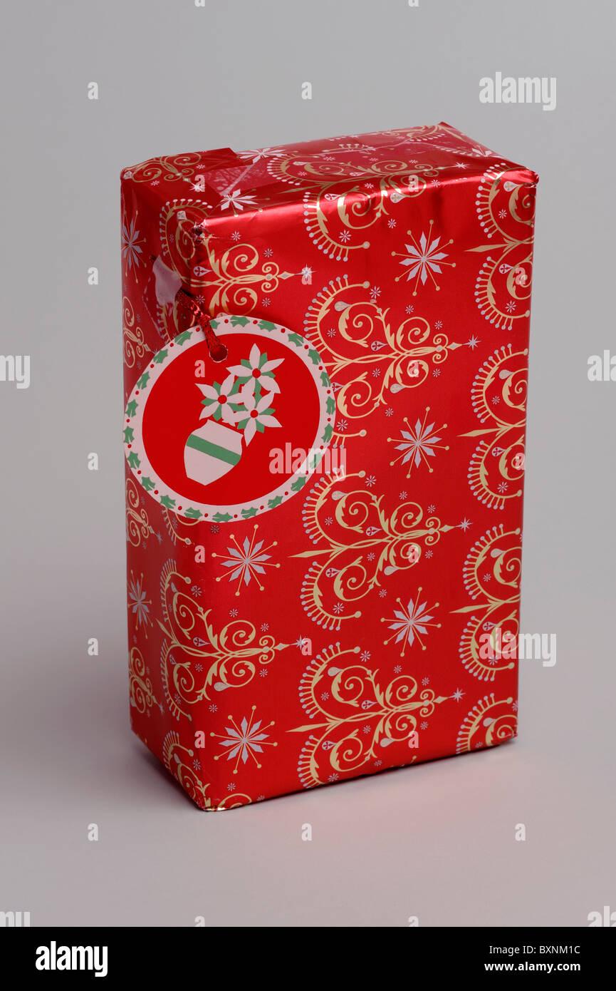 Regalo de Navidad roja Imagen De Stock