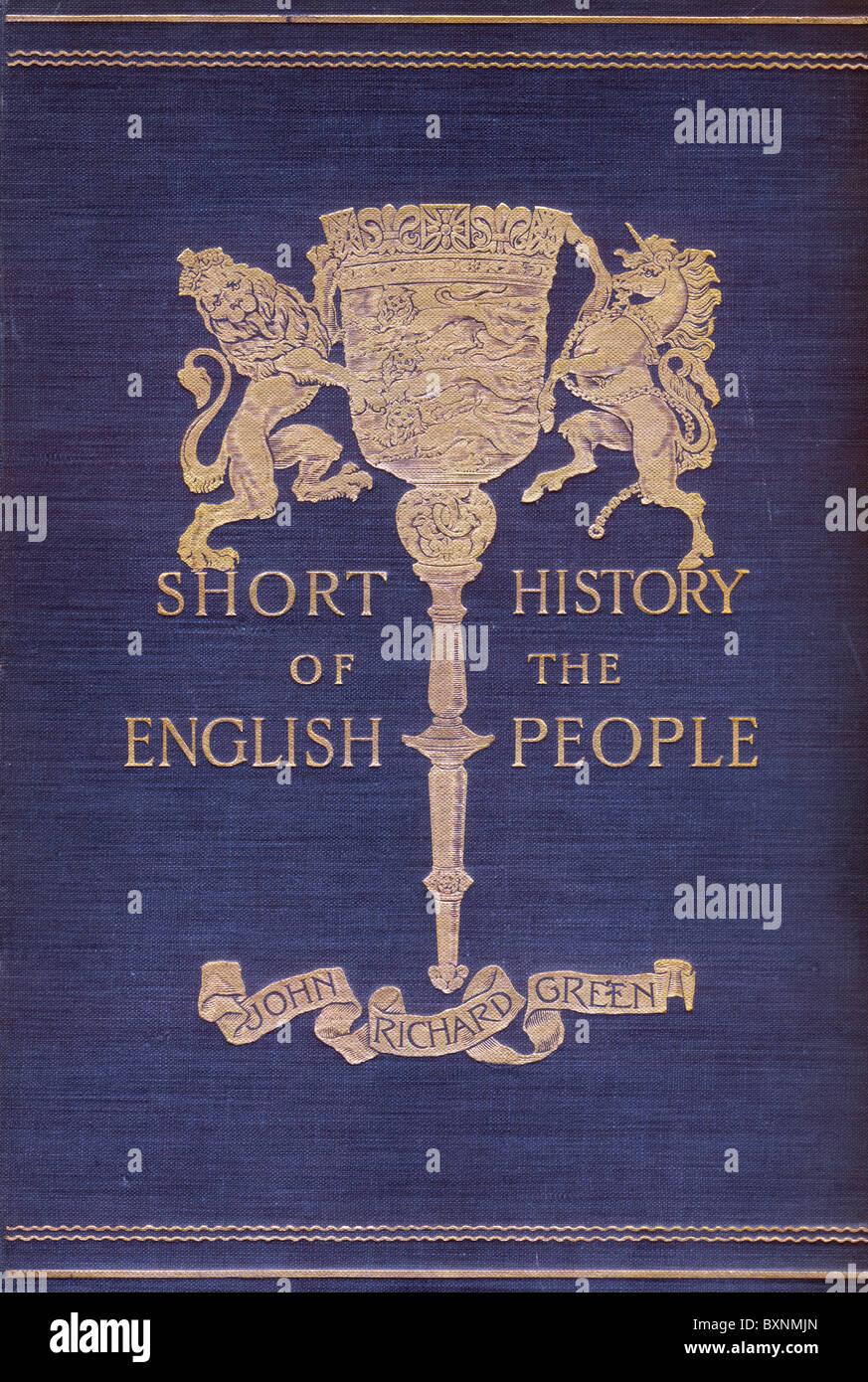 Tapa frontal de la corta historia de los Ingleses por John Richard Green, publicado por primera vez en cuatro volúmenes Imagen De Stock