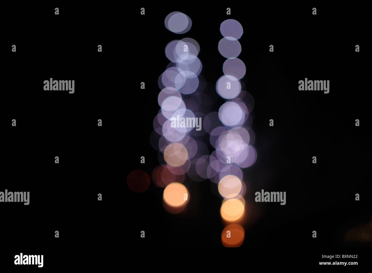 Resumen patrones de luces. Foto de stock