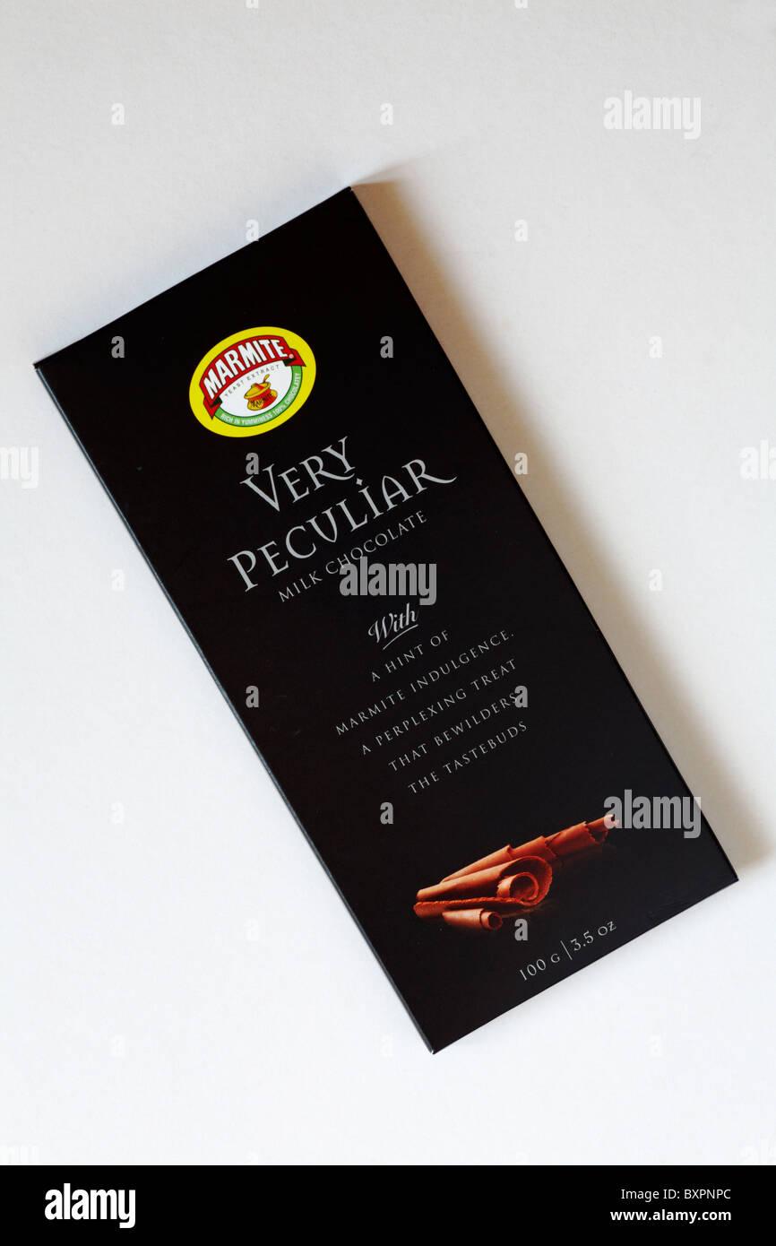 Barra de chocolate con leche muy peculiar Marmite Imagen De Stock