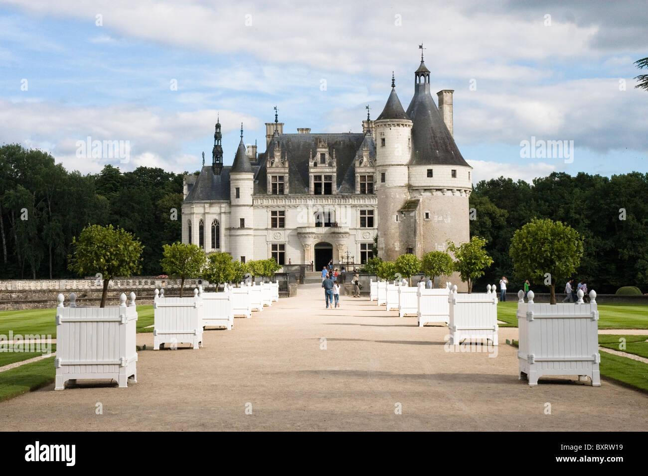 Francia, Loira, Chenonceau, Château de Chenonceau Imagen De Stock