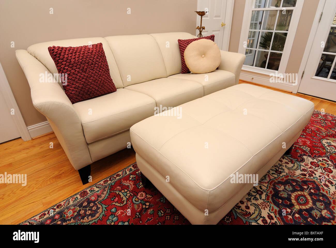 Salón interior contemporáneo con sofá. Imagen De Stock