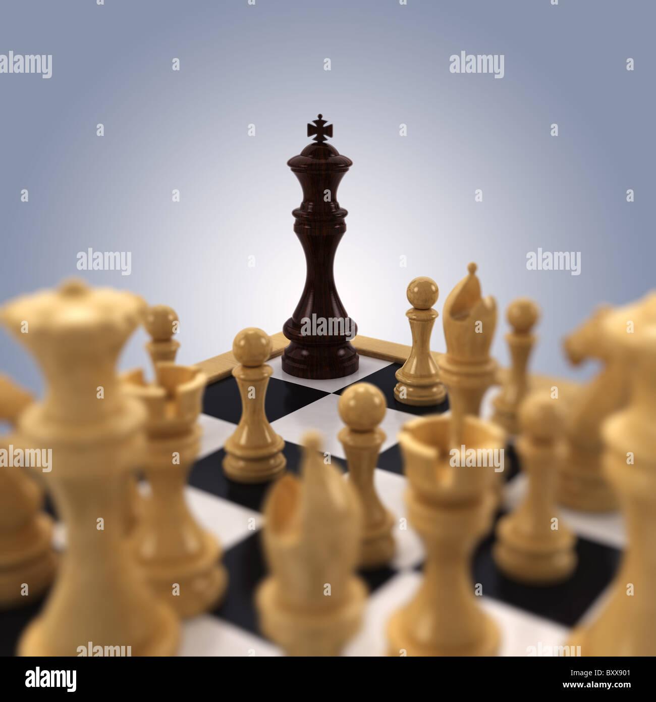 Rey negro de ajedrez Imagen De Stock