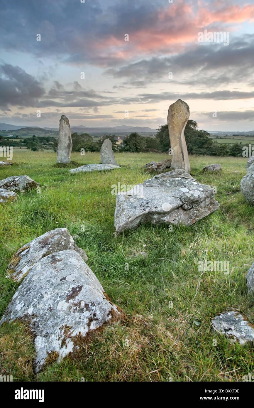 Stone Circle, Inishowen Bocan, Co. Donagel, Irlanda Imagen De Stock