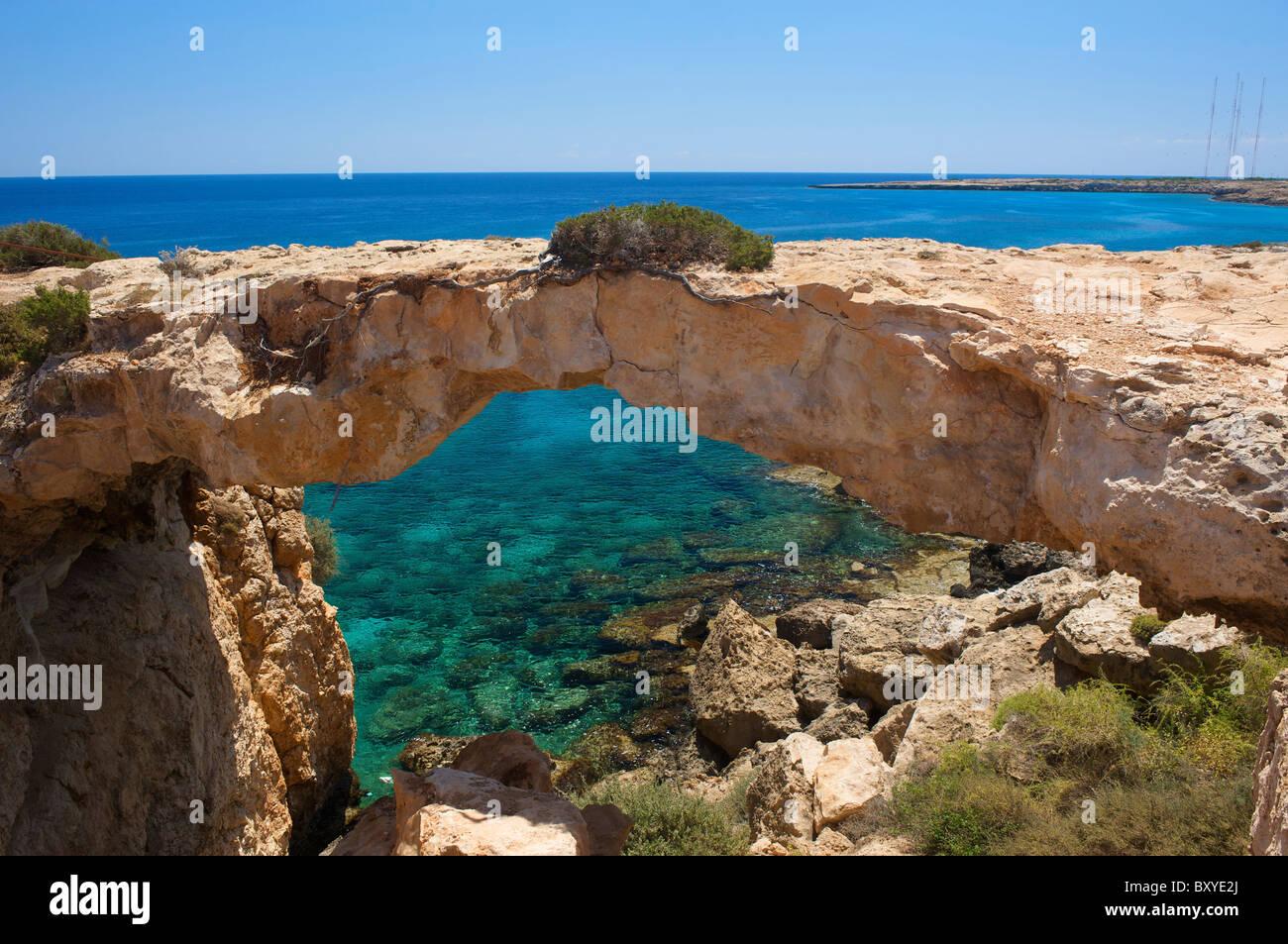 Cap Greco cerca de Ayia Napa, República de Chipre Imagen De Stock