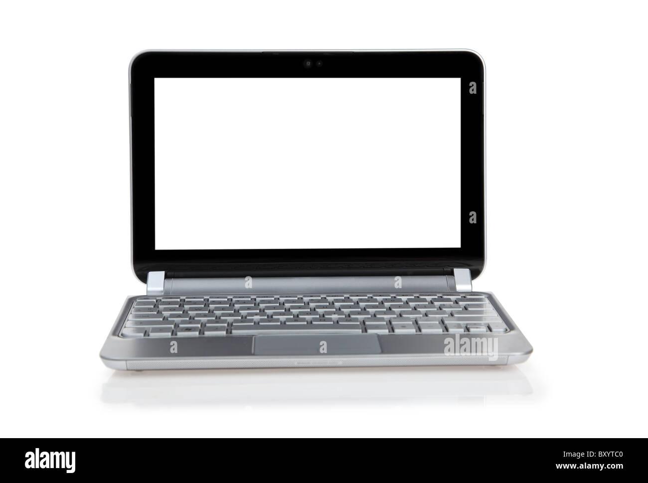 Ordenador portátil sobre fondo blanco. Imagen De Stock