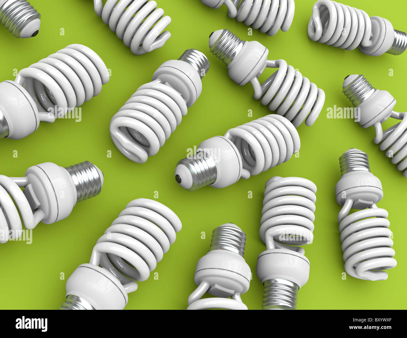 Bombillas de luz Imagen De Stock