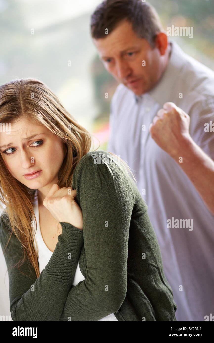 Par la violencia doméstica Imagen De Stock