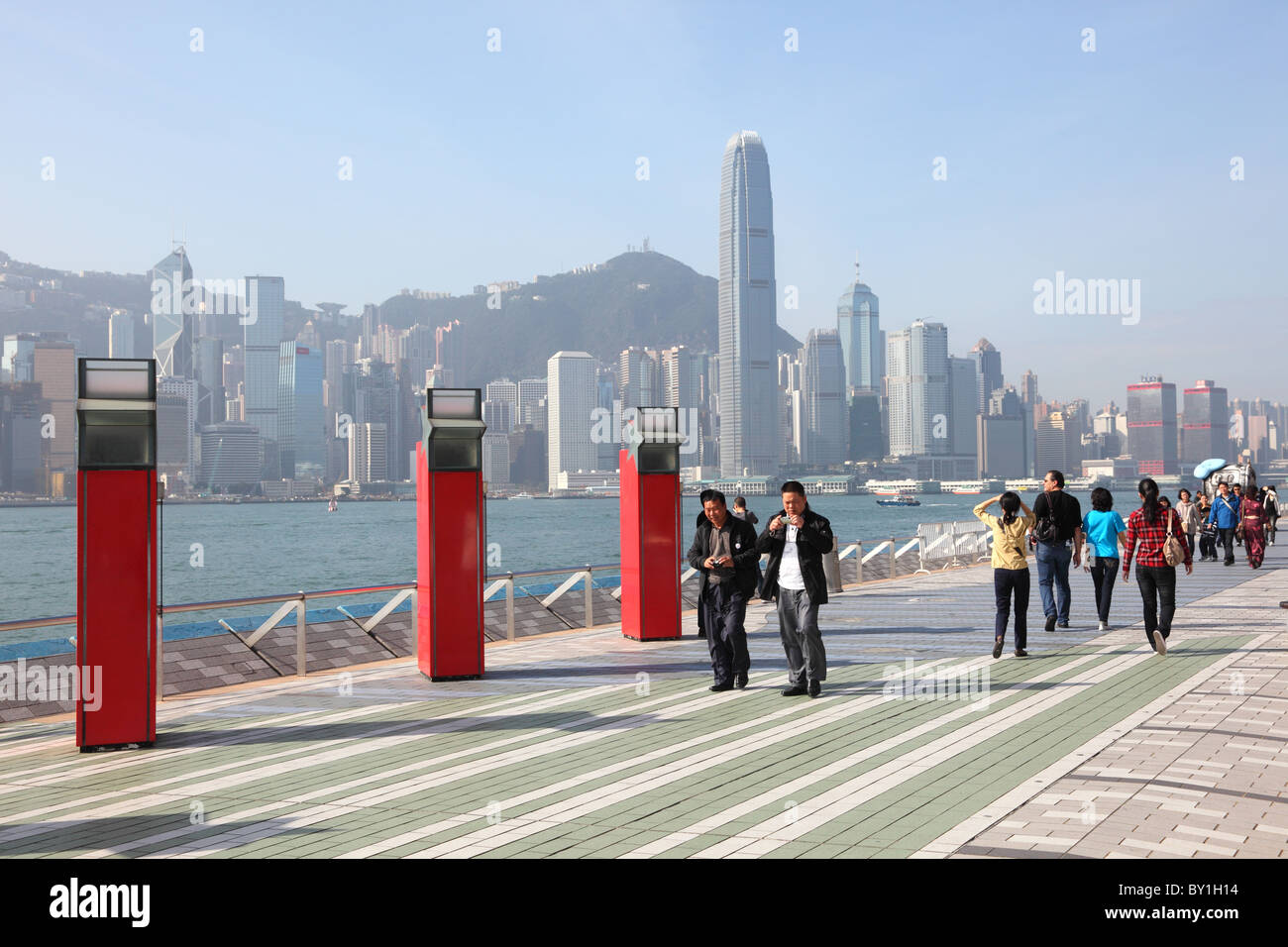 La avenida de las estrellas en Hong Kong. Foto tomada en el 5º de diciembre de 2010 Imagen De Stock
