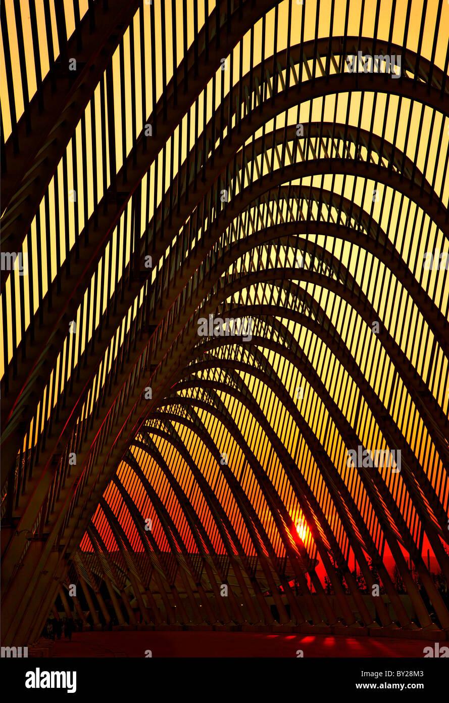 """El """"Ágora"""" en el complejo olímpico de Atenas, donde los Juegos Olímpicos de 2004, se llevó Imagen De Stock"""