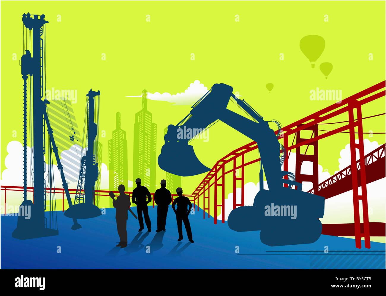 La construcción de la ciudad Imagen De Stock