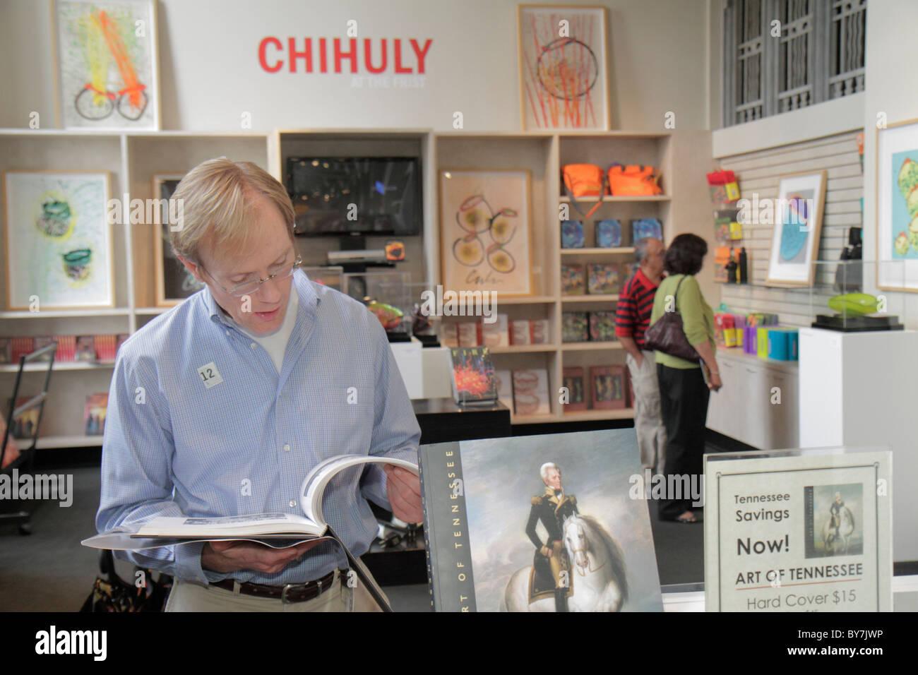 El Nashville Tennessee Frist Centro para las Artes Visuales galería de arte Museo tienda de compras Dale Chihuly Imagen De Stock