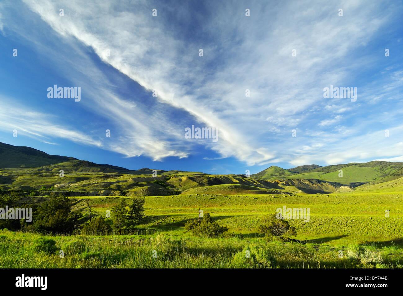 Hermosos paisajes de Yellowstone. Imagen De Stock