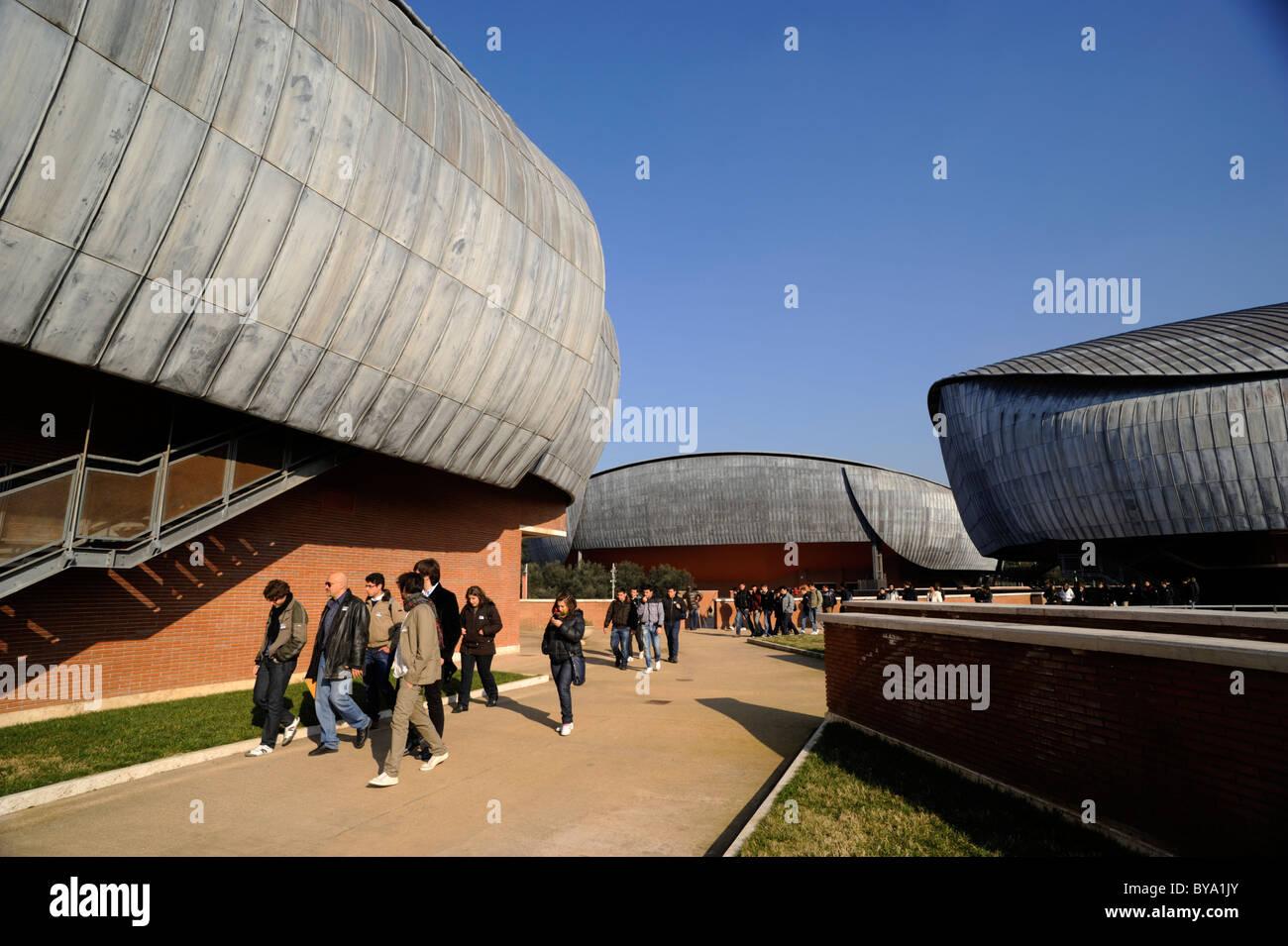 Italia, Roma, el auditorio Parco della Musica, el arquitecto Renzo Piano Foto de stock