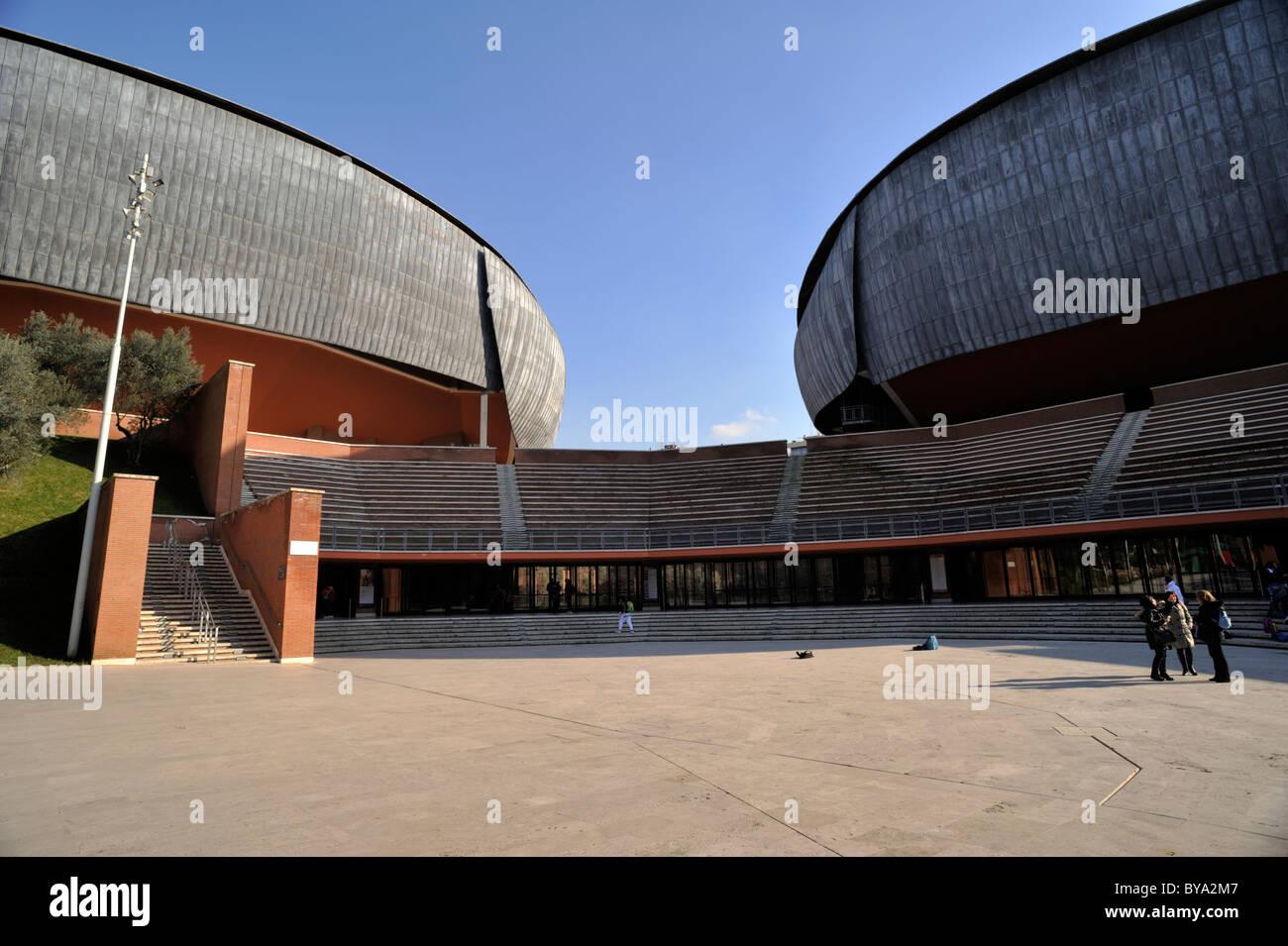 Italia, Roma, el auditorio Parco della Musica, el arquitecto Renzo Piano Imagen De Stock