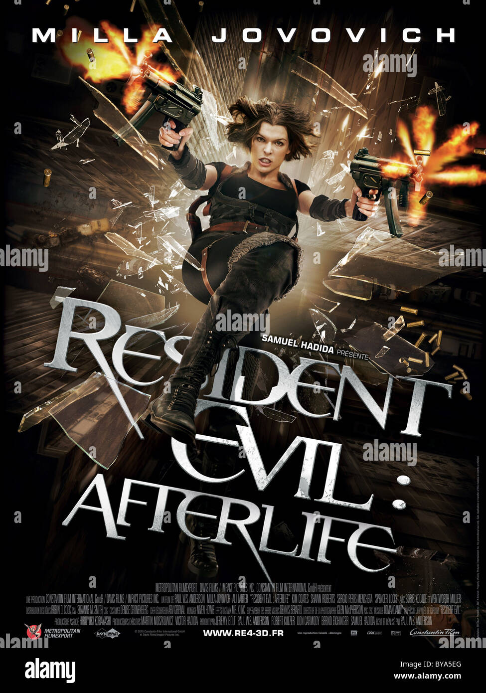 Resident Evil: Afterlife Año : 2010 USA / Director Británico : Paul W.S. Anderson Milla Jovovich póster Imagen De Stock