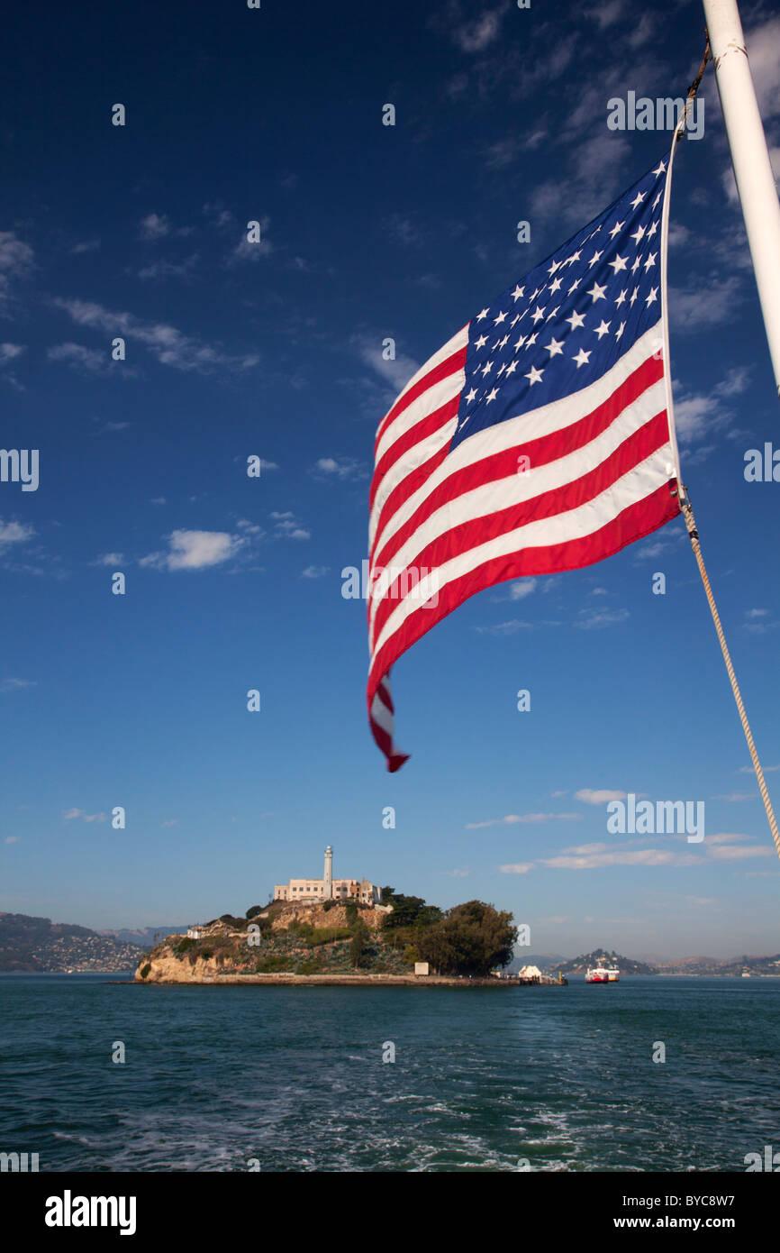 La Isla de Alcatraz, San Francisco, CA. Foto de stock