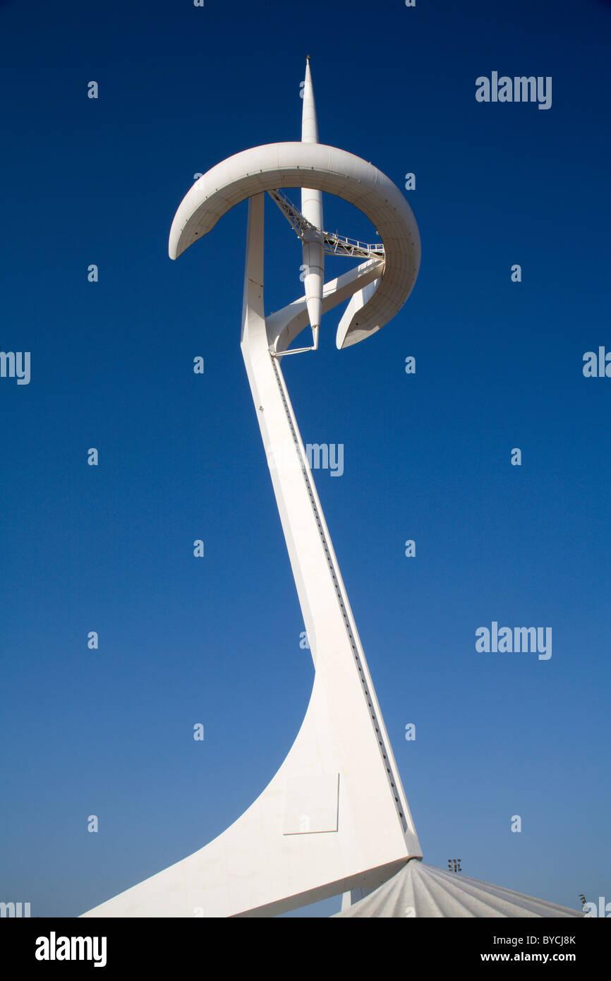 Barcelona - Torre Calatrava - Parque de Montjuic Imagen De Stock