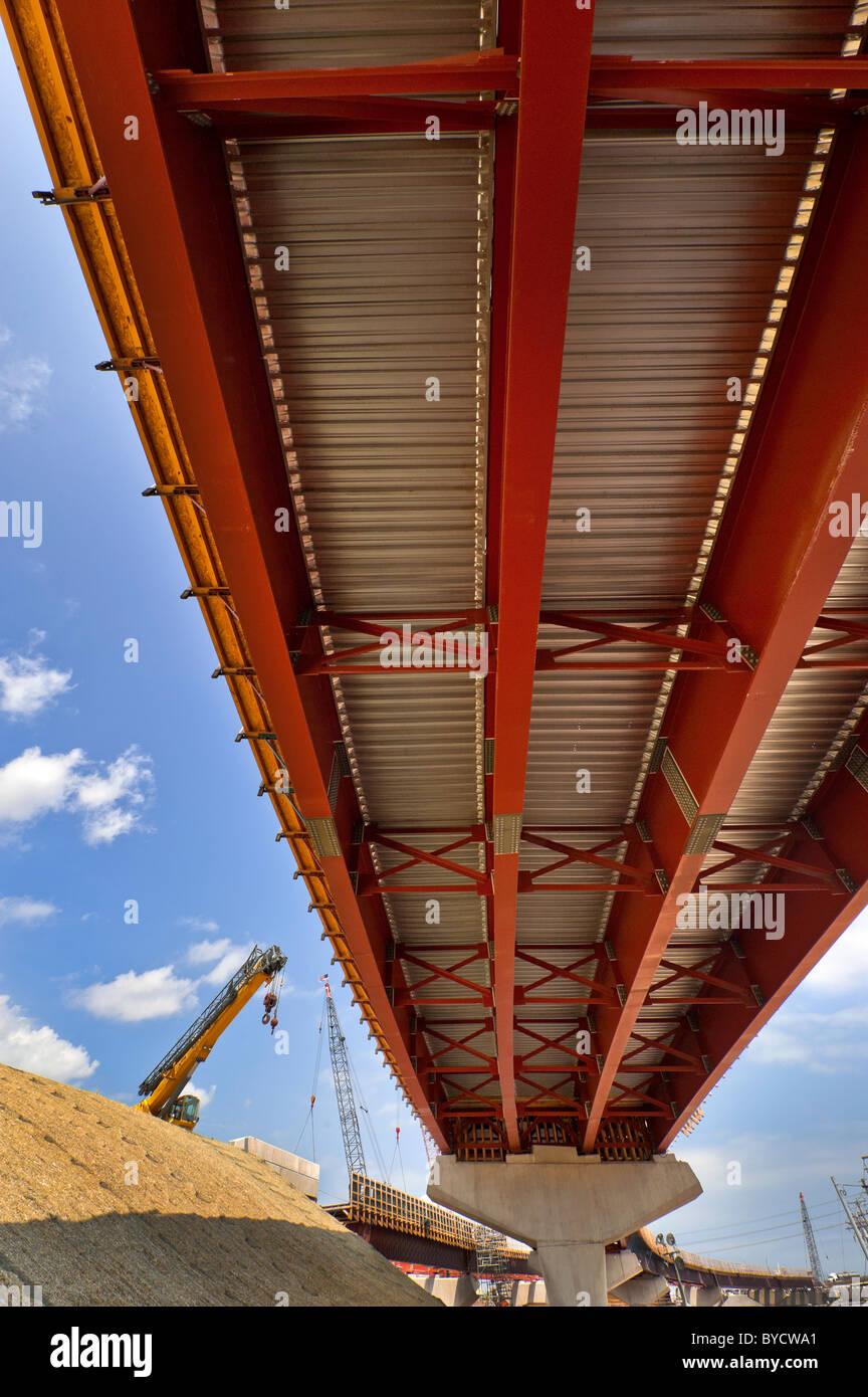 La construcción de la infraestructura, la autopista I-95, New Haven Ct. Imagen De Stock